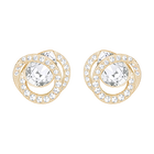 Generation Pierced Earrings, White, Rose Gold Plating