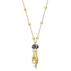 Tarot Magic Pendant, Gray, Gold-tone plated