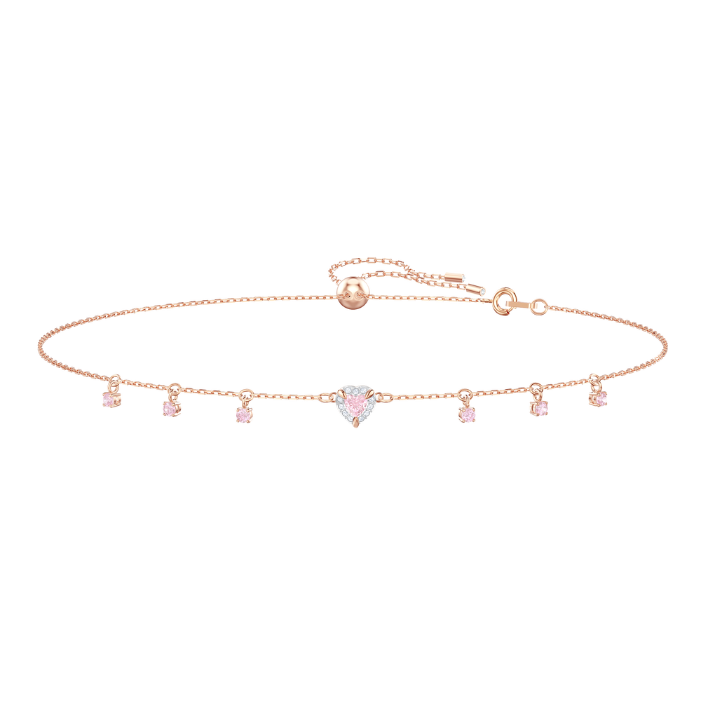 One Choker, Multi-colored, Rose gold plating