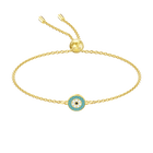 Luckily Bracelet, Multi-colored, Gold plating