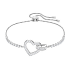 Lovely Bracelet, White, Rhodium Plating