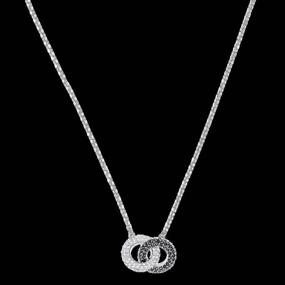 Stone Necklace, Multi-Colored, Rhodium Plating