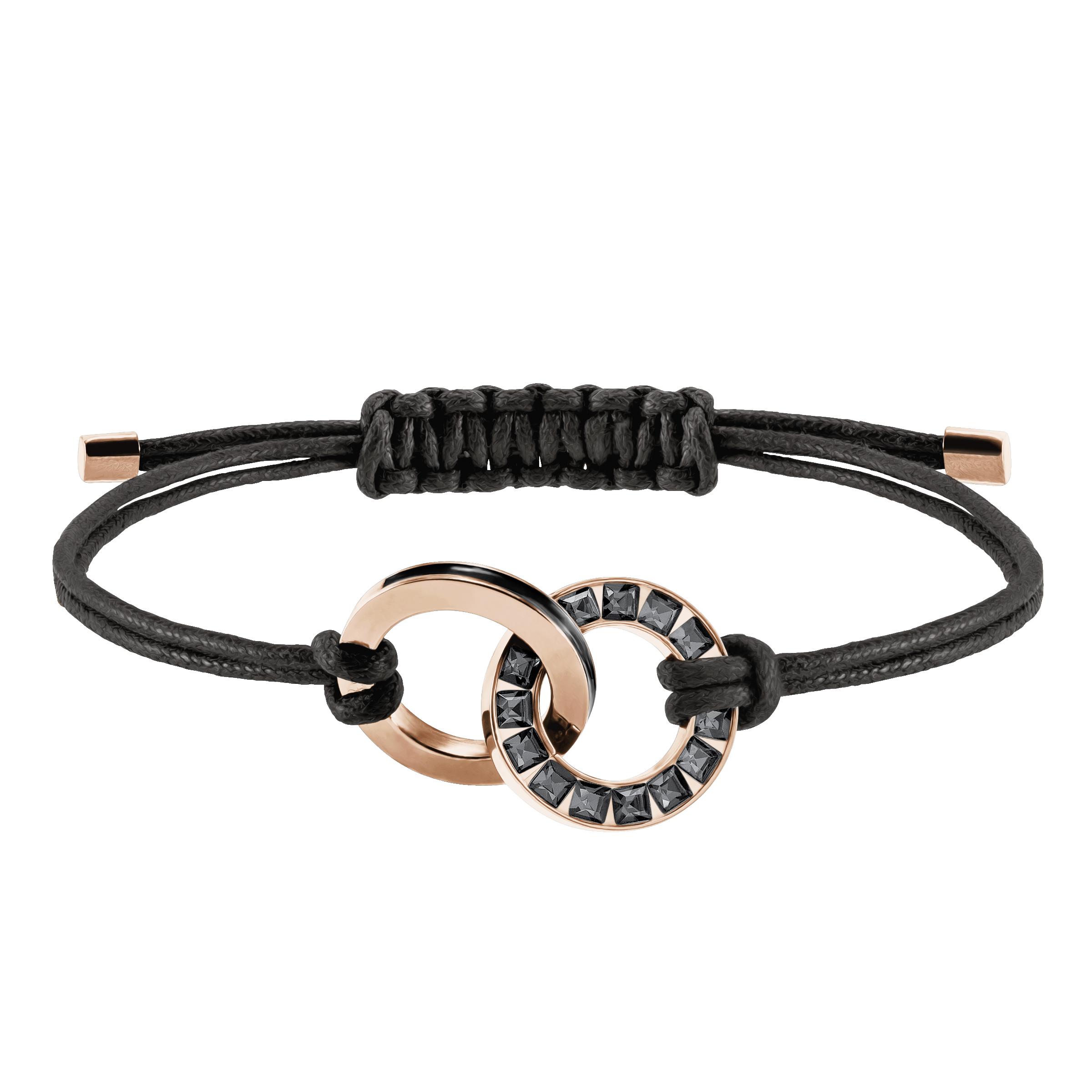 Alto Bracelet, Gray, Rose Gold Plating