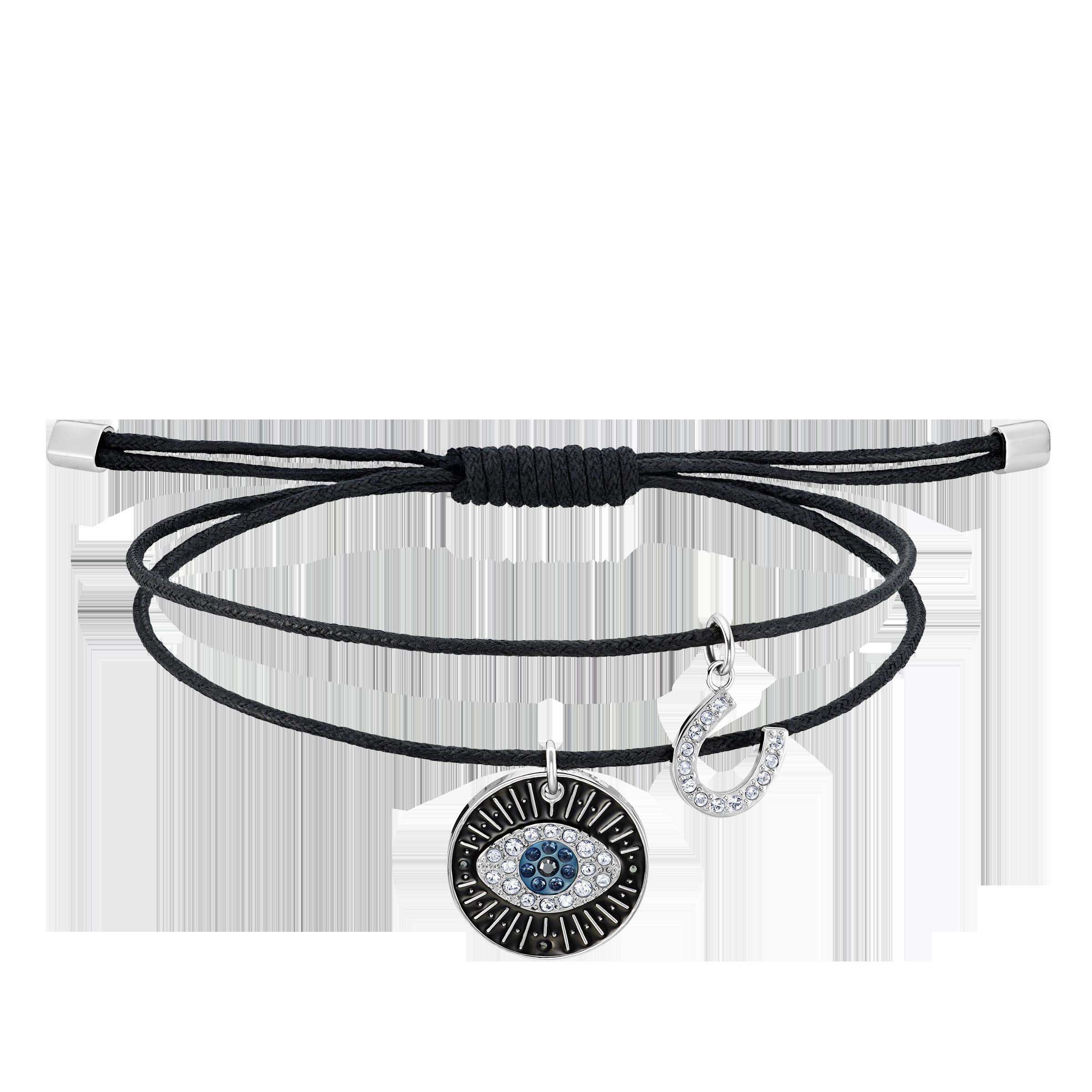 Unisex Evil Eye Bracelet, Multi-colored, Stainless steel