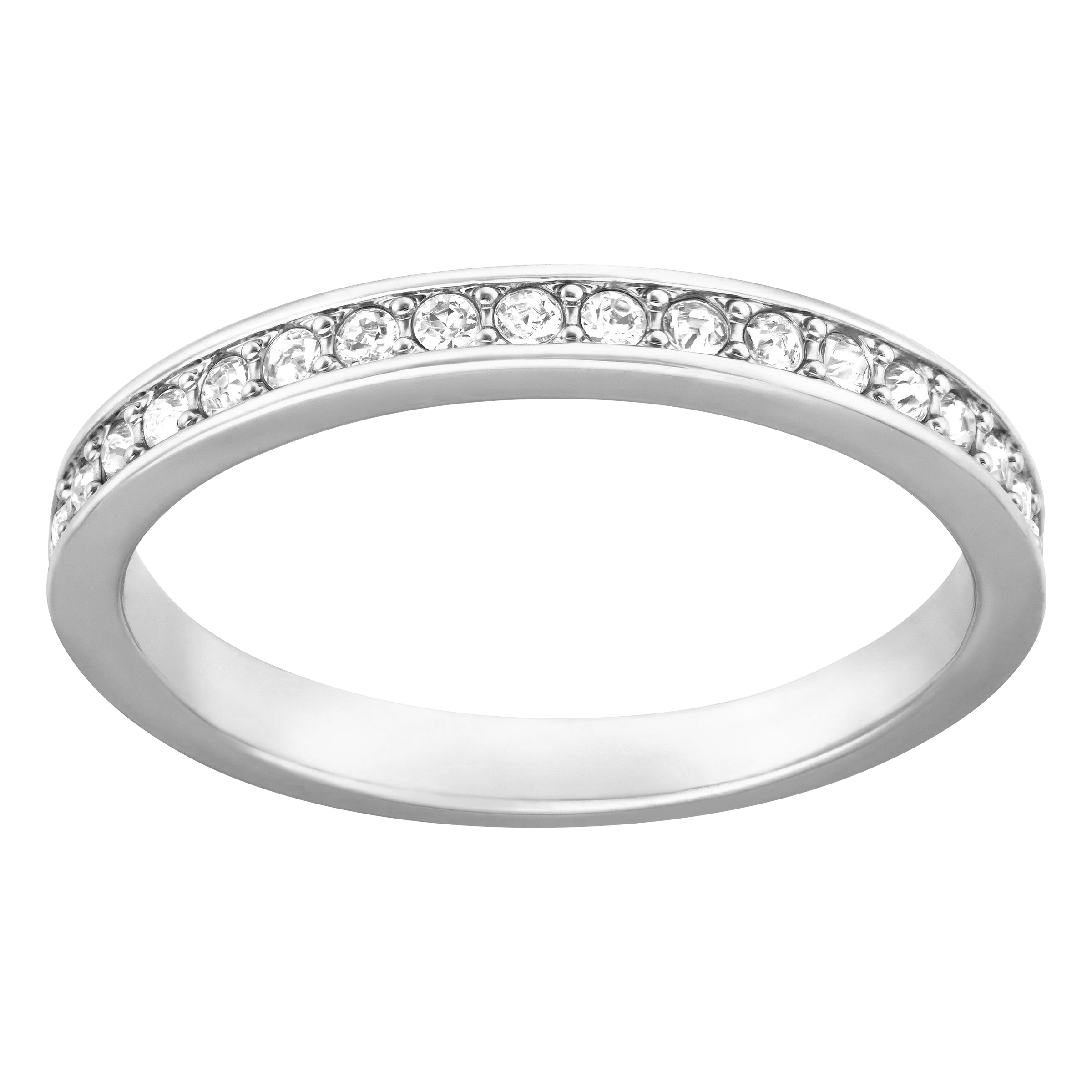 Rare Ring, White, Rhodium Plated