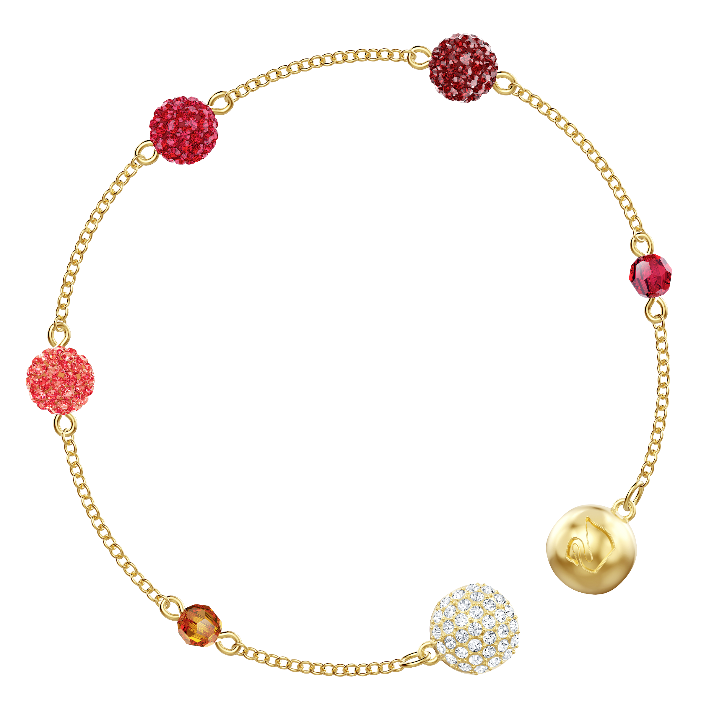 Swarovski Remix Collection Pop Strand, Multi-colored, Gold plating
