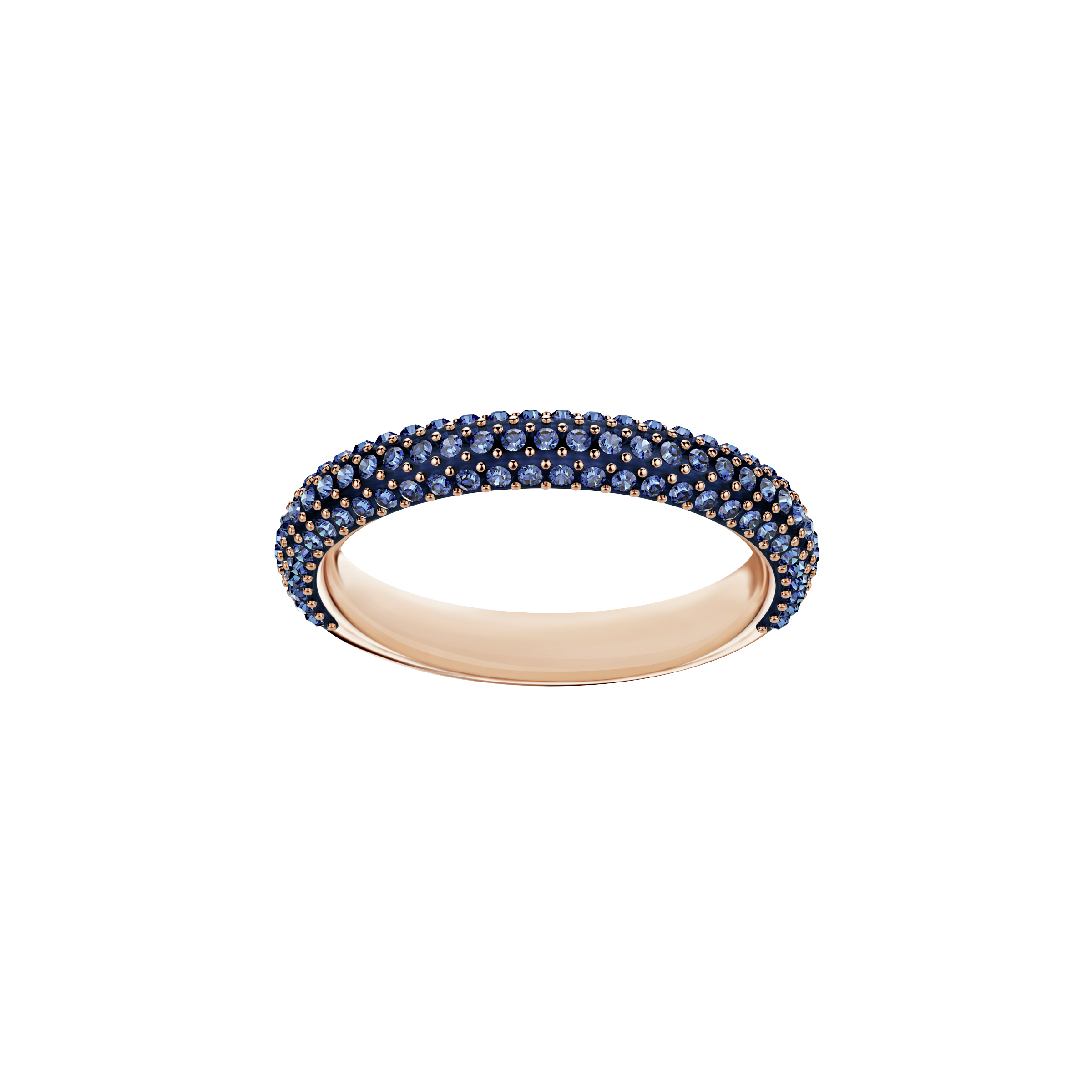 Stone Mini Ring, Blue, Rose Gold Plating