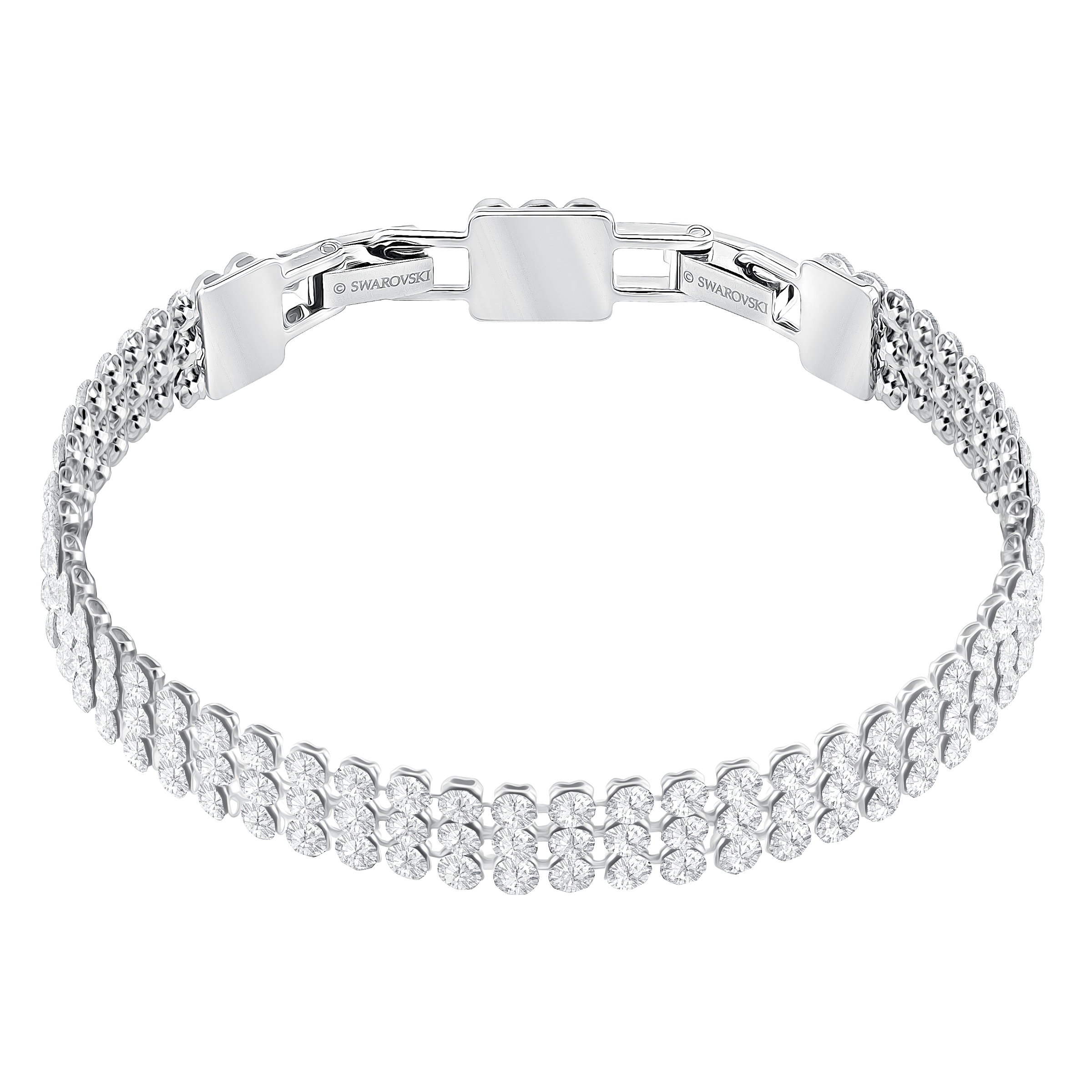 Fit Bracelet, White, Palladium plated
