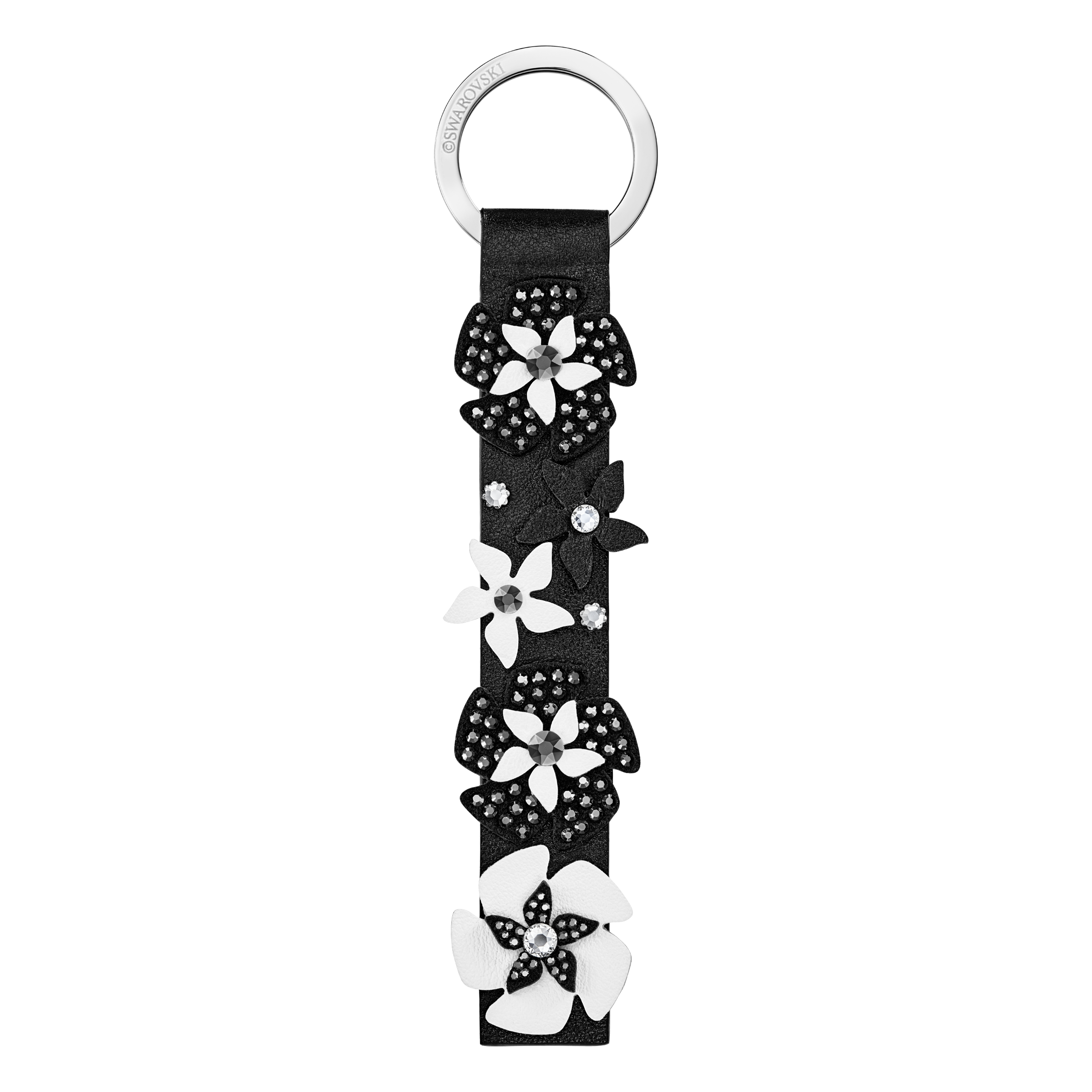 Mazy Key Ring, Black, Stainless Steel
