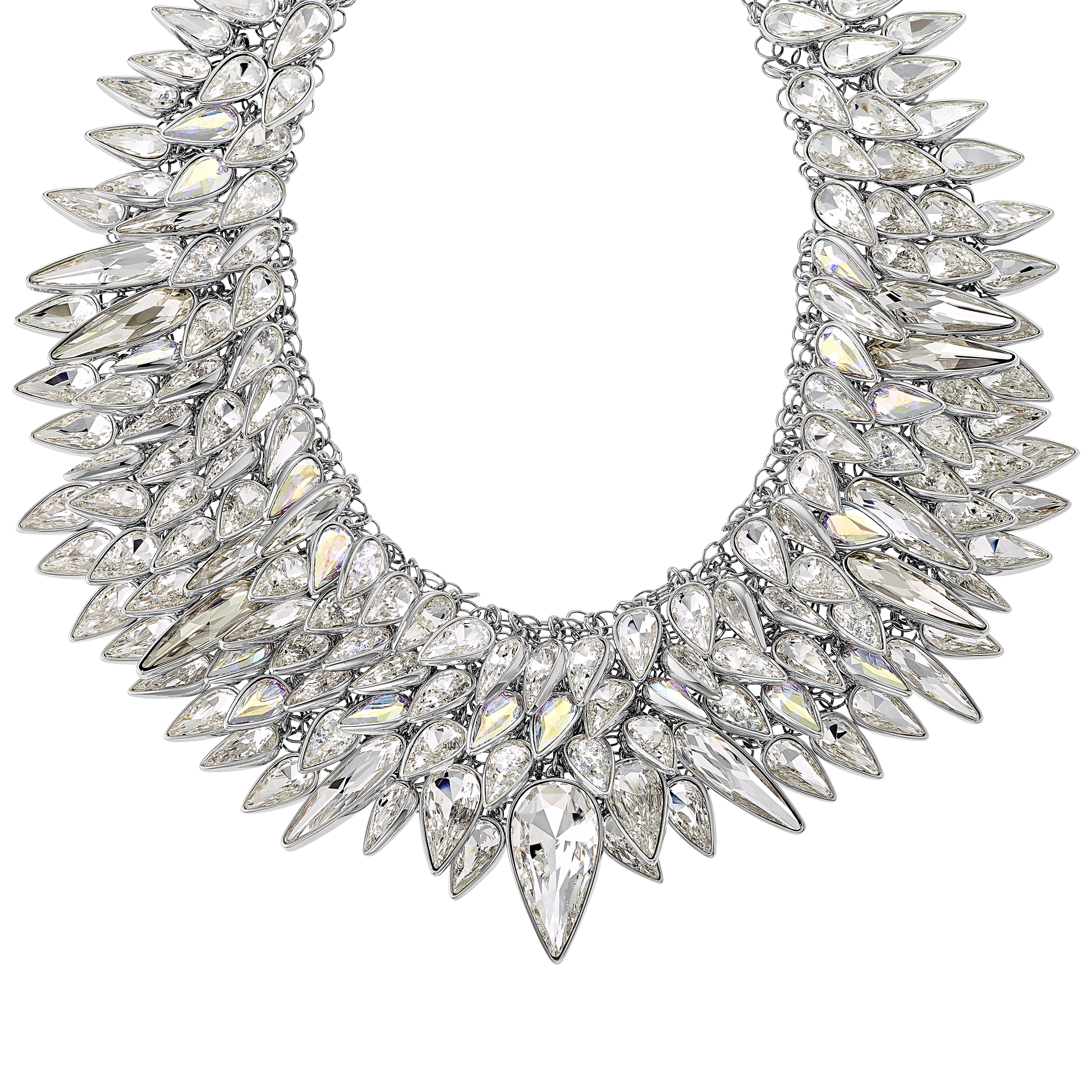 The Polar Bestiary Necklace, Multi-colored, Rhodium plated