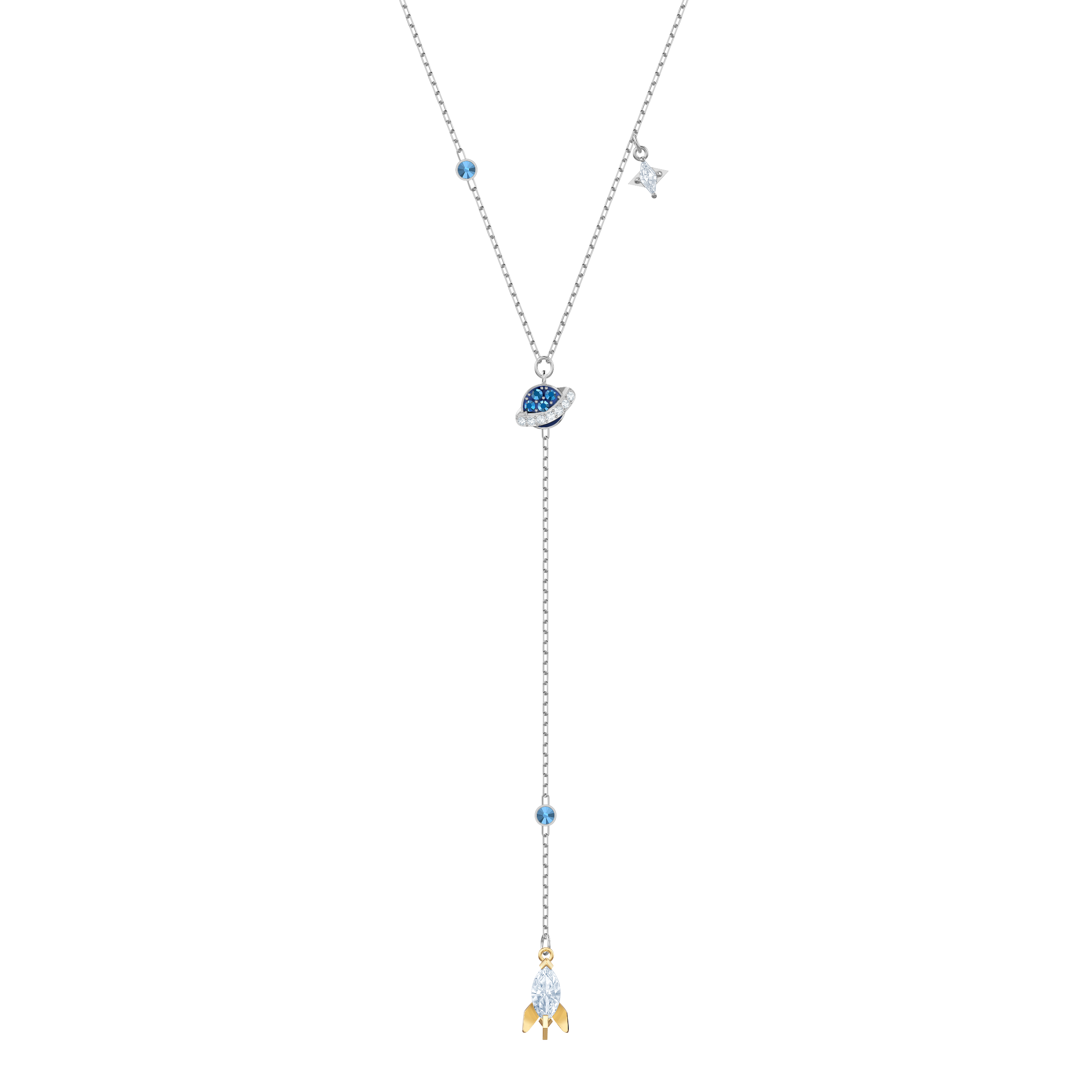 Out of this World Space Y Necklace, Multi-colored, Mixed plating