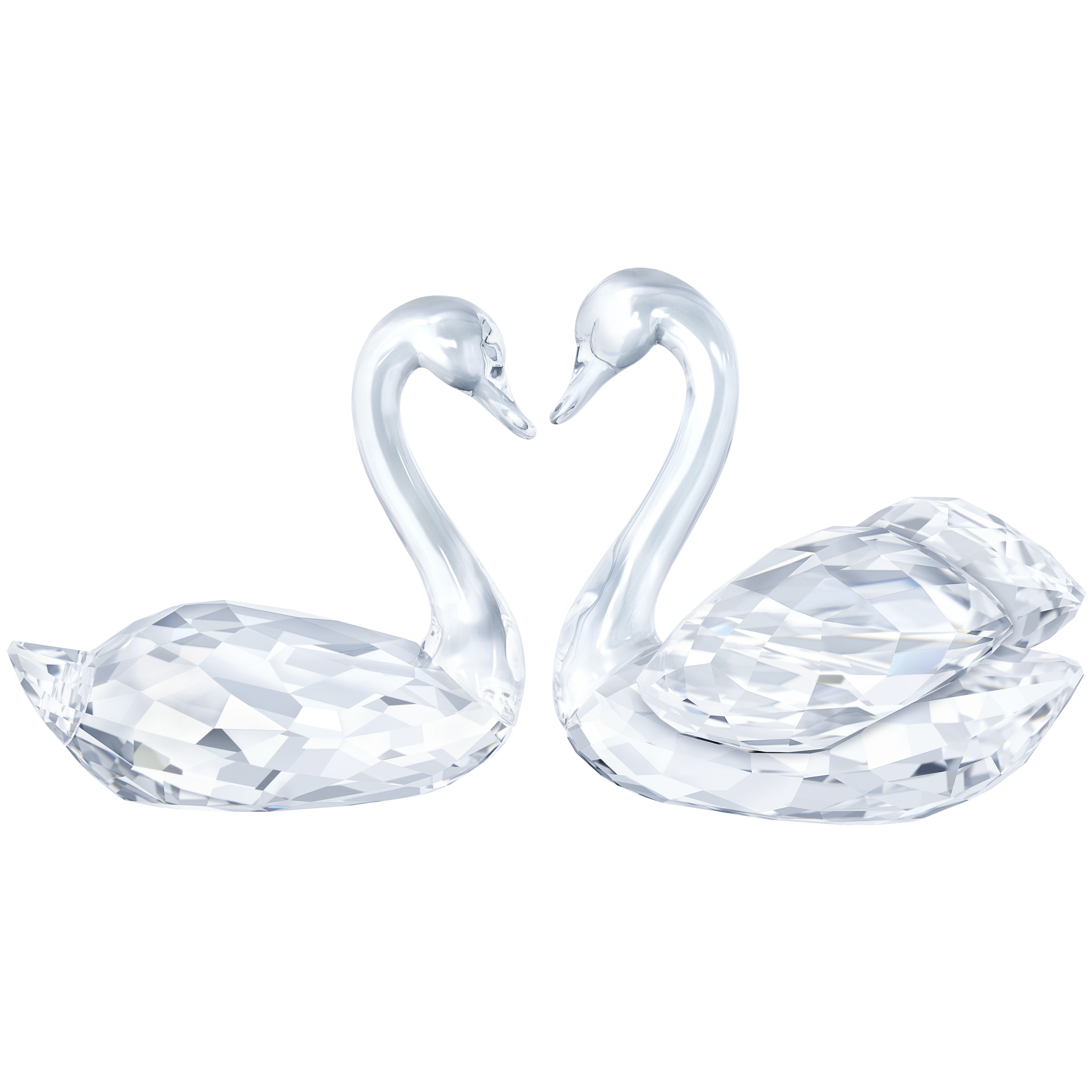 Swan Couple Crystal Creations