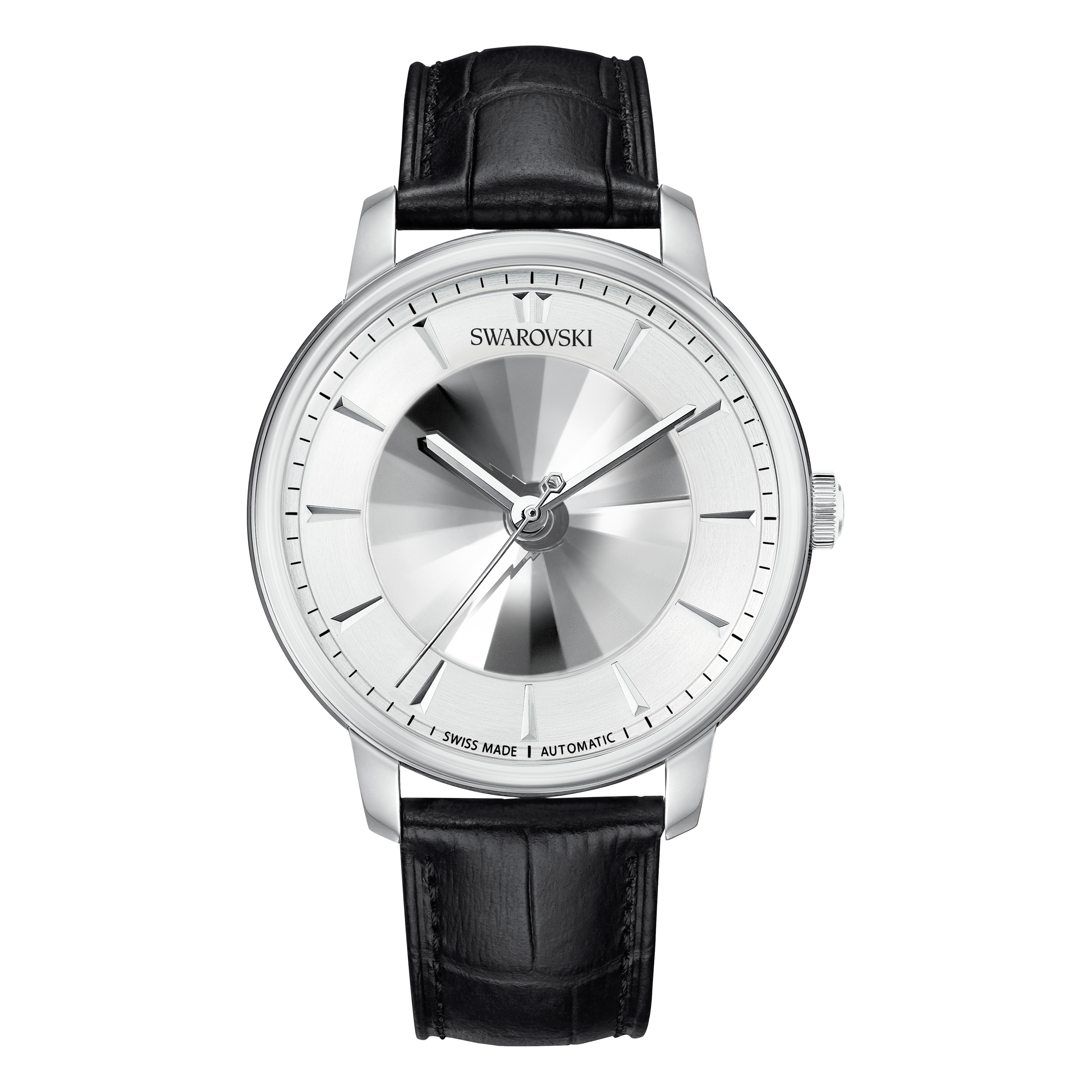 Atlantis Limited Edition Automatic Men's Watch, Leather strap, White, Stainless steel
