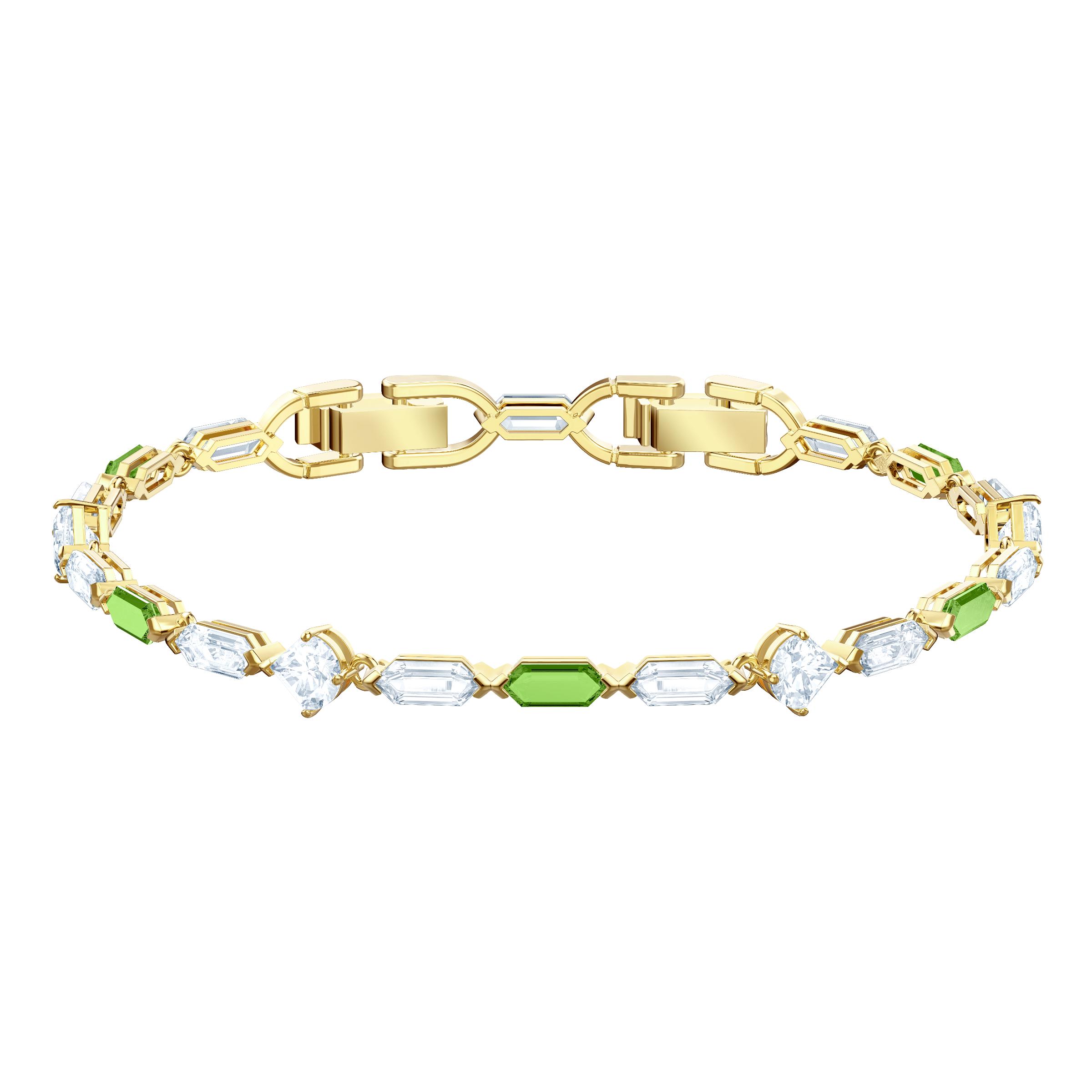 Oz Bracelet, White, Gold plating
