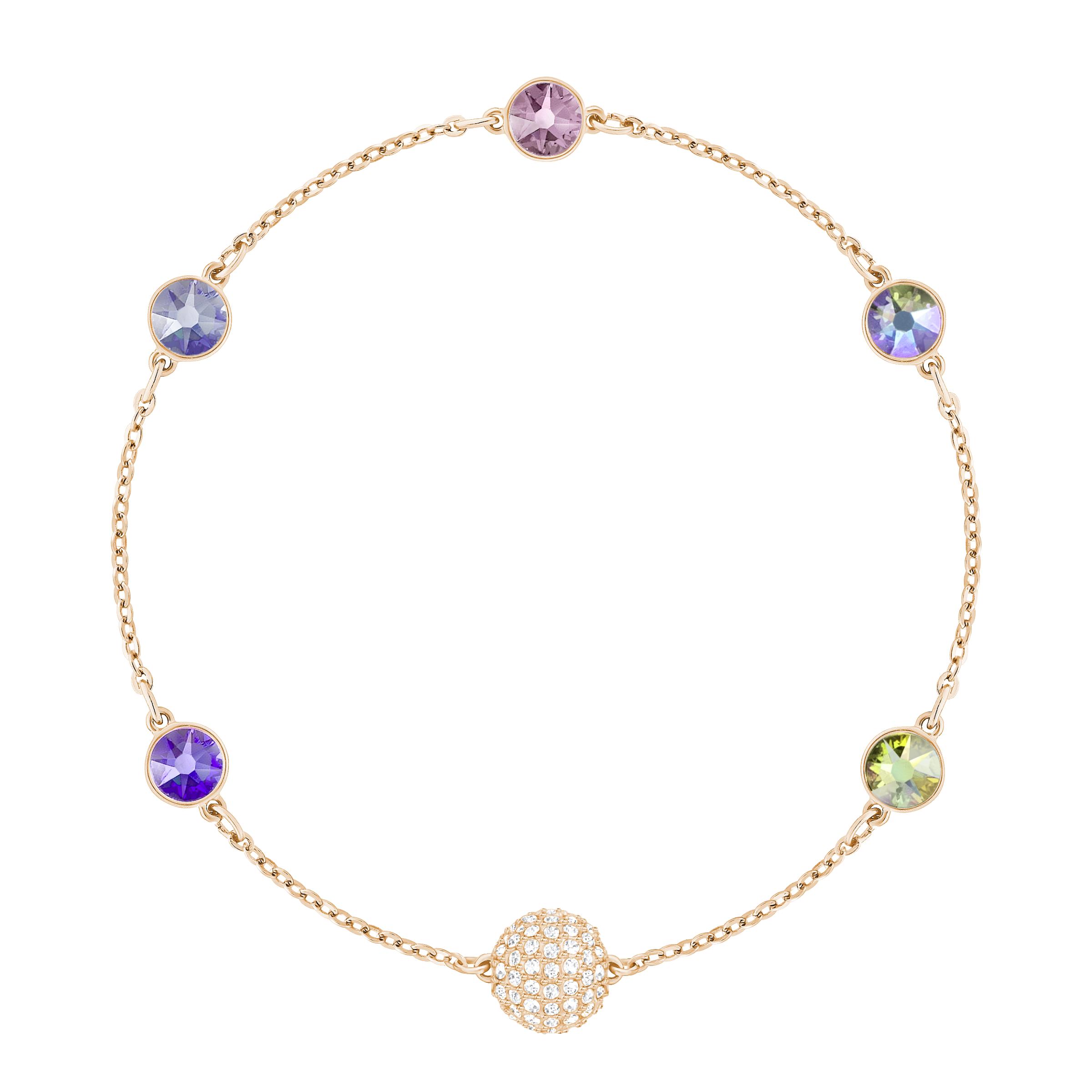 Swarovski Remix Collection Purple, Multi-Colored, Rose Gold Plating