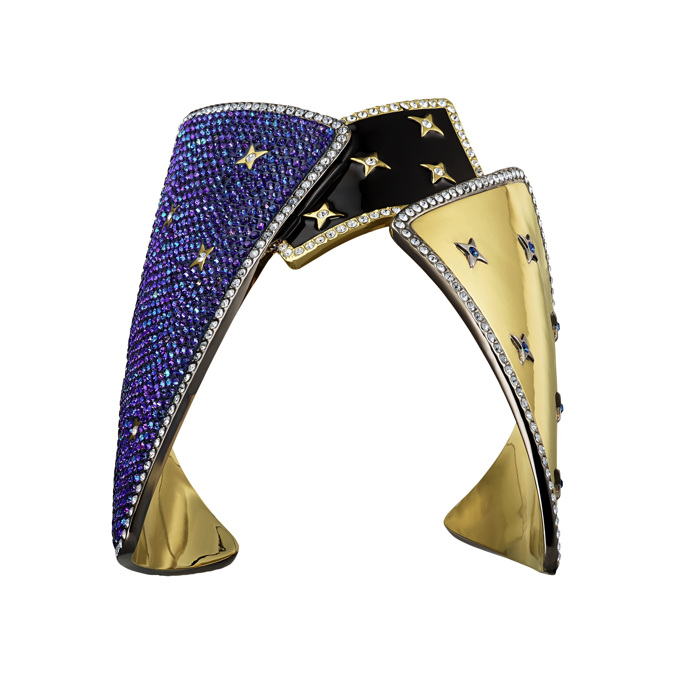 Chromancy Cuff, Multi-colored, Mixed metal finish