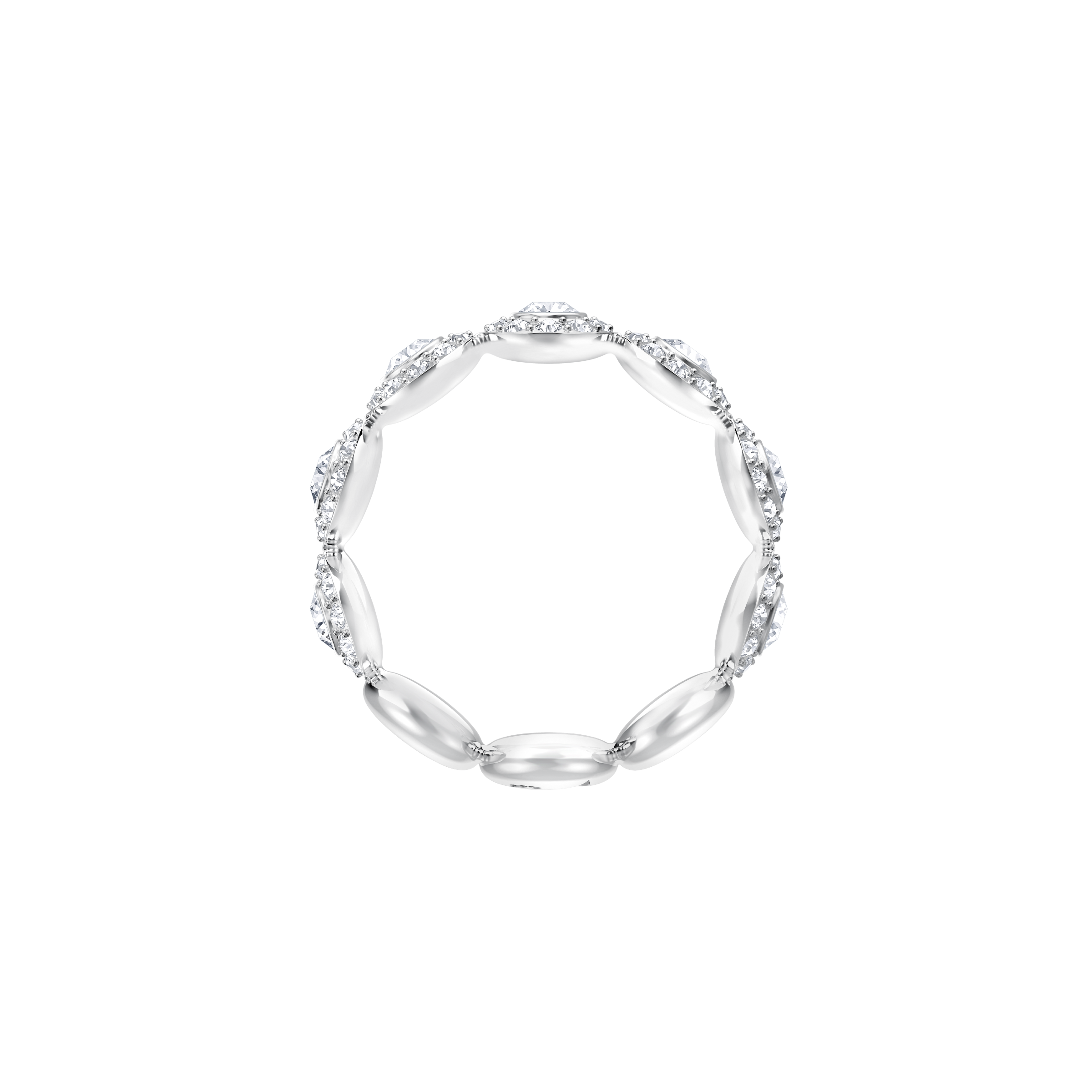 Angelic Ring, White, Rhodium Plating