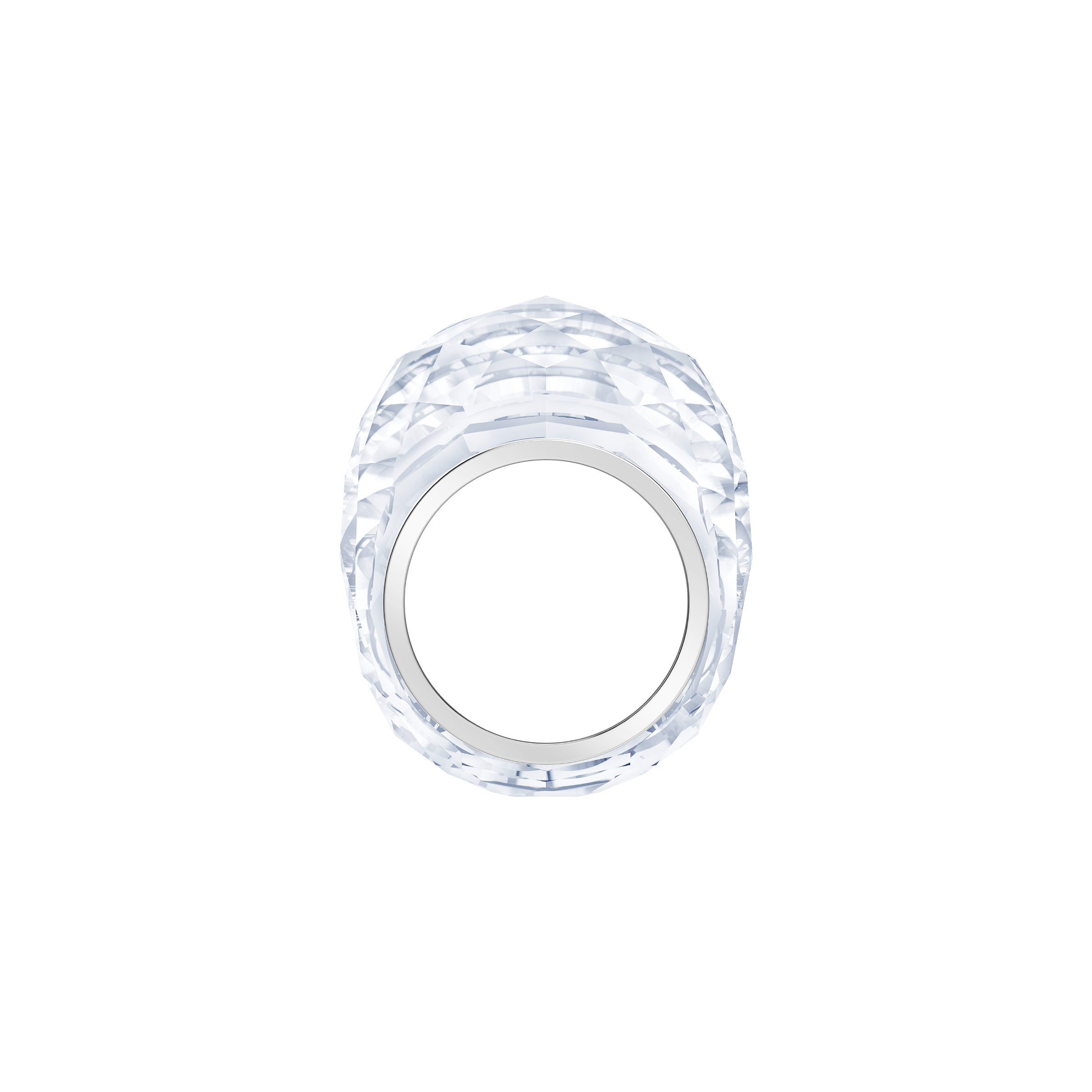 Nirvana Ring, White, Stainless Steel