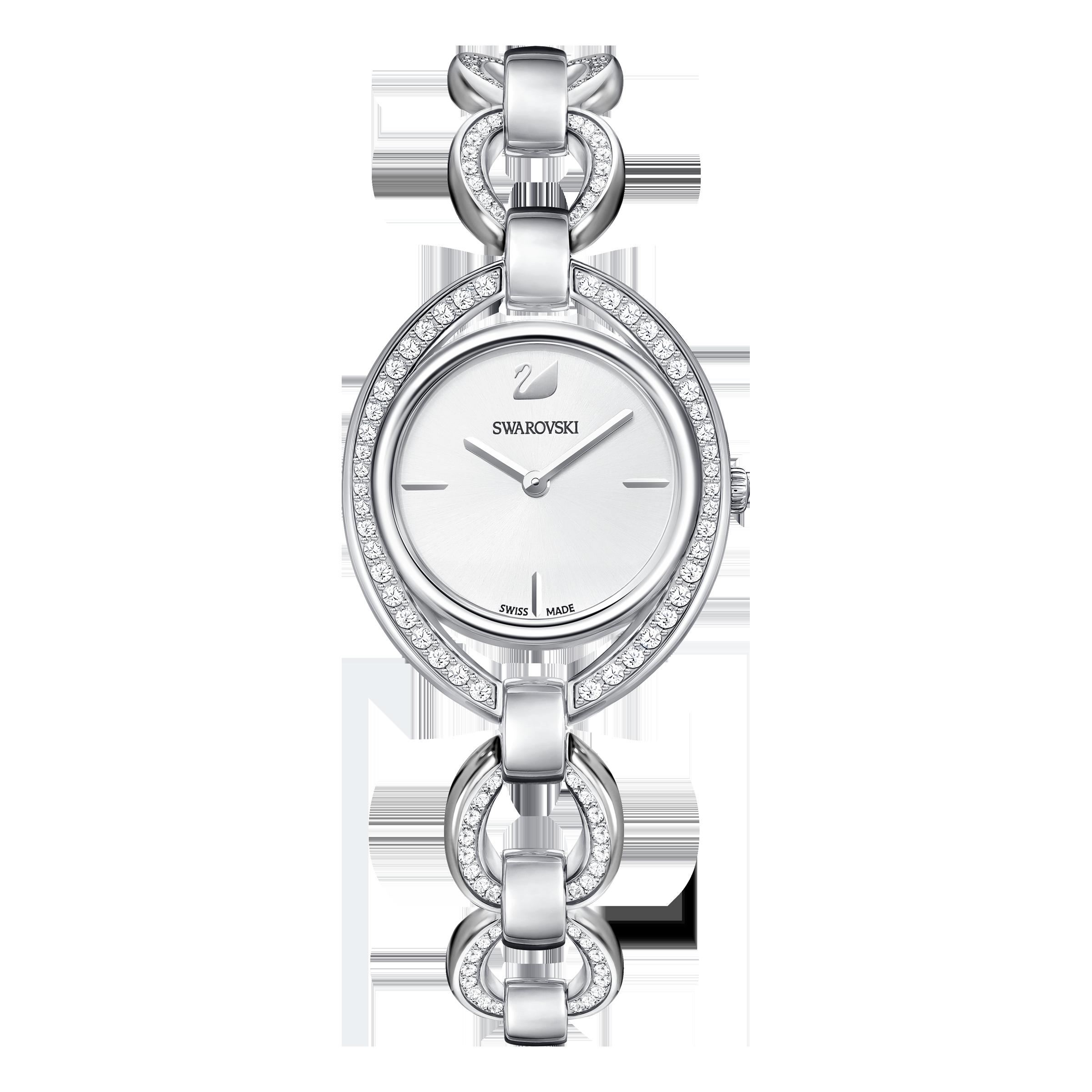 Stella Watch, Metal Bracelet, White, Stainless Steel