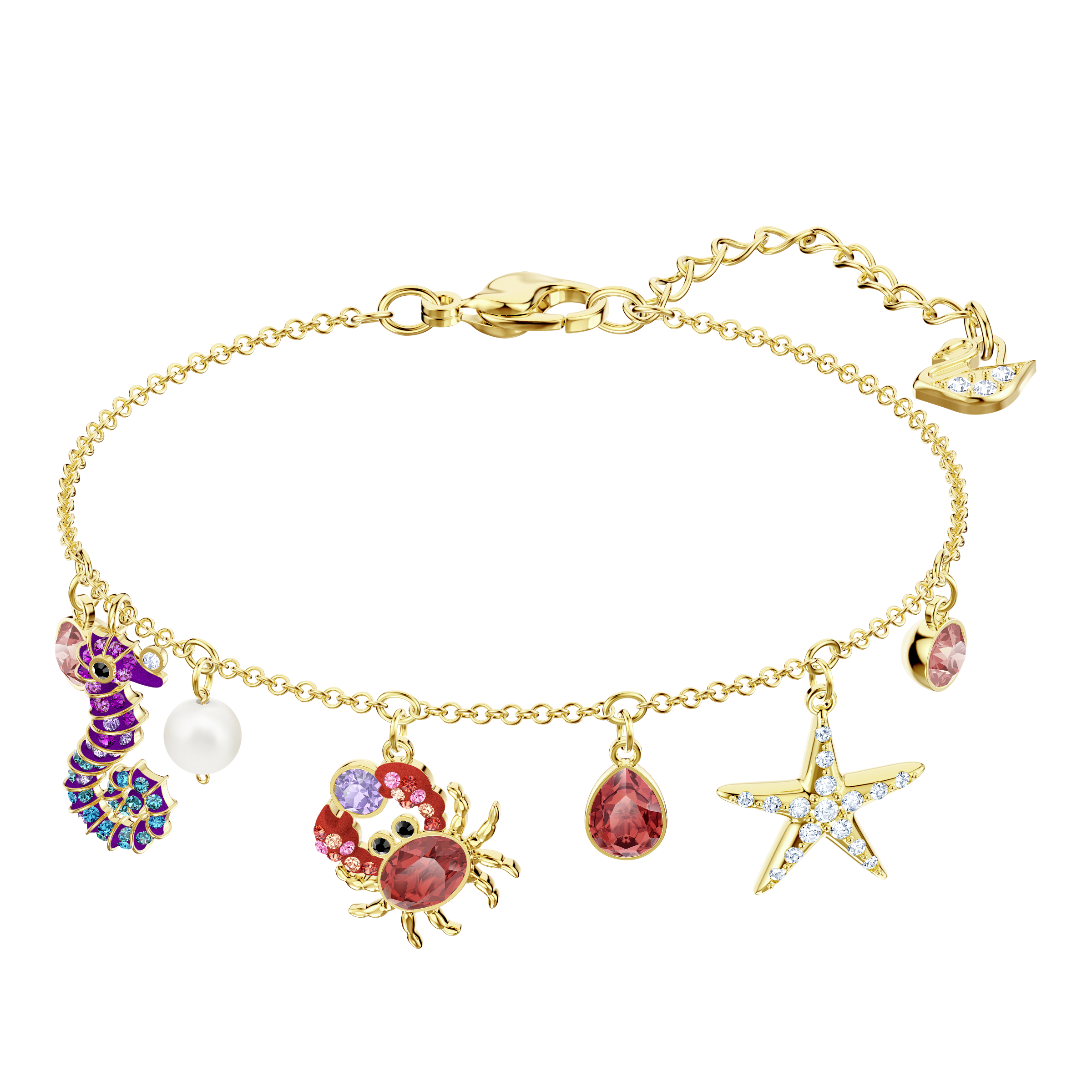 Ocean Bracelet, Multi-colored, Gold plating