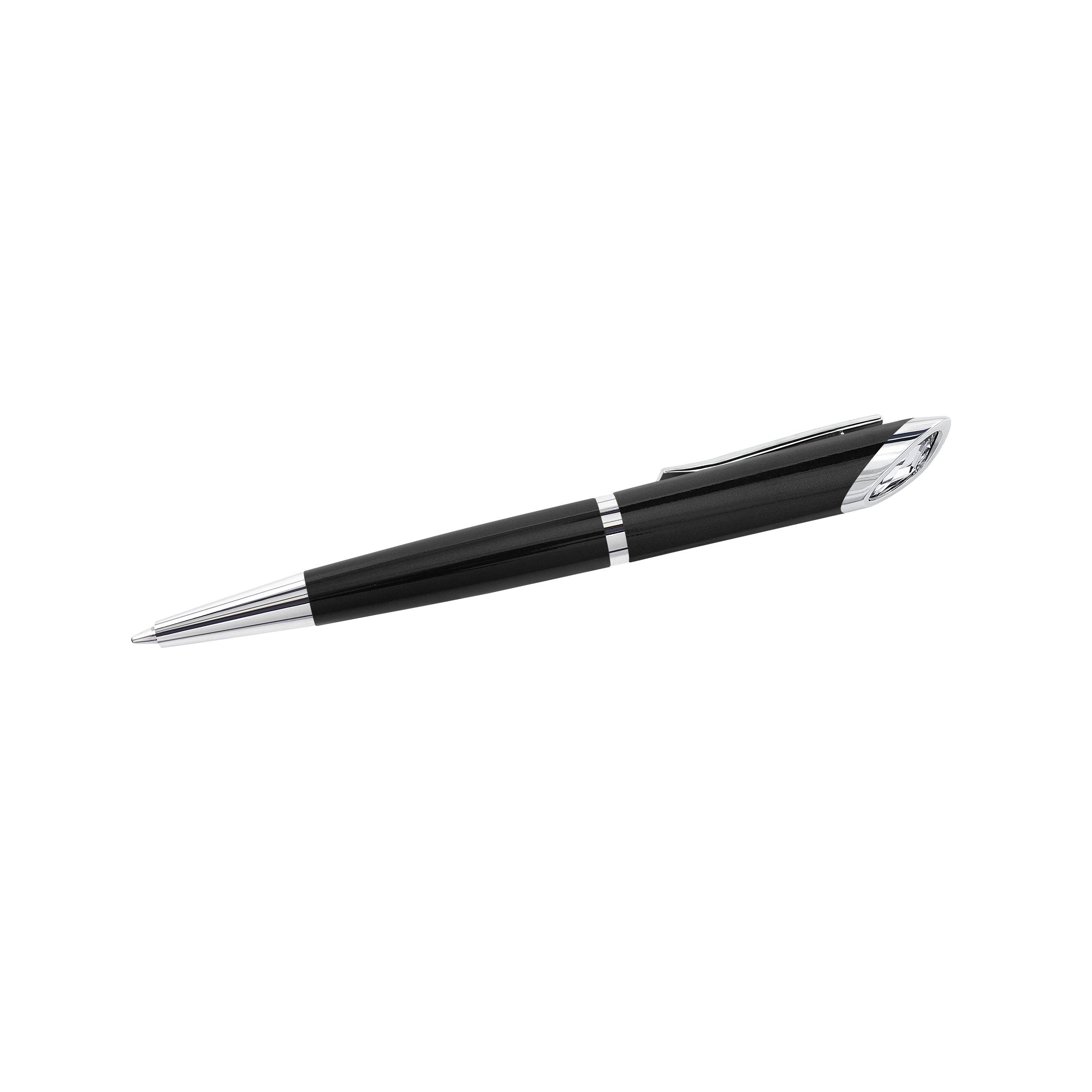 Crystal Starlight Agenda Ballpoint Pen, Black