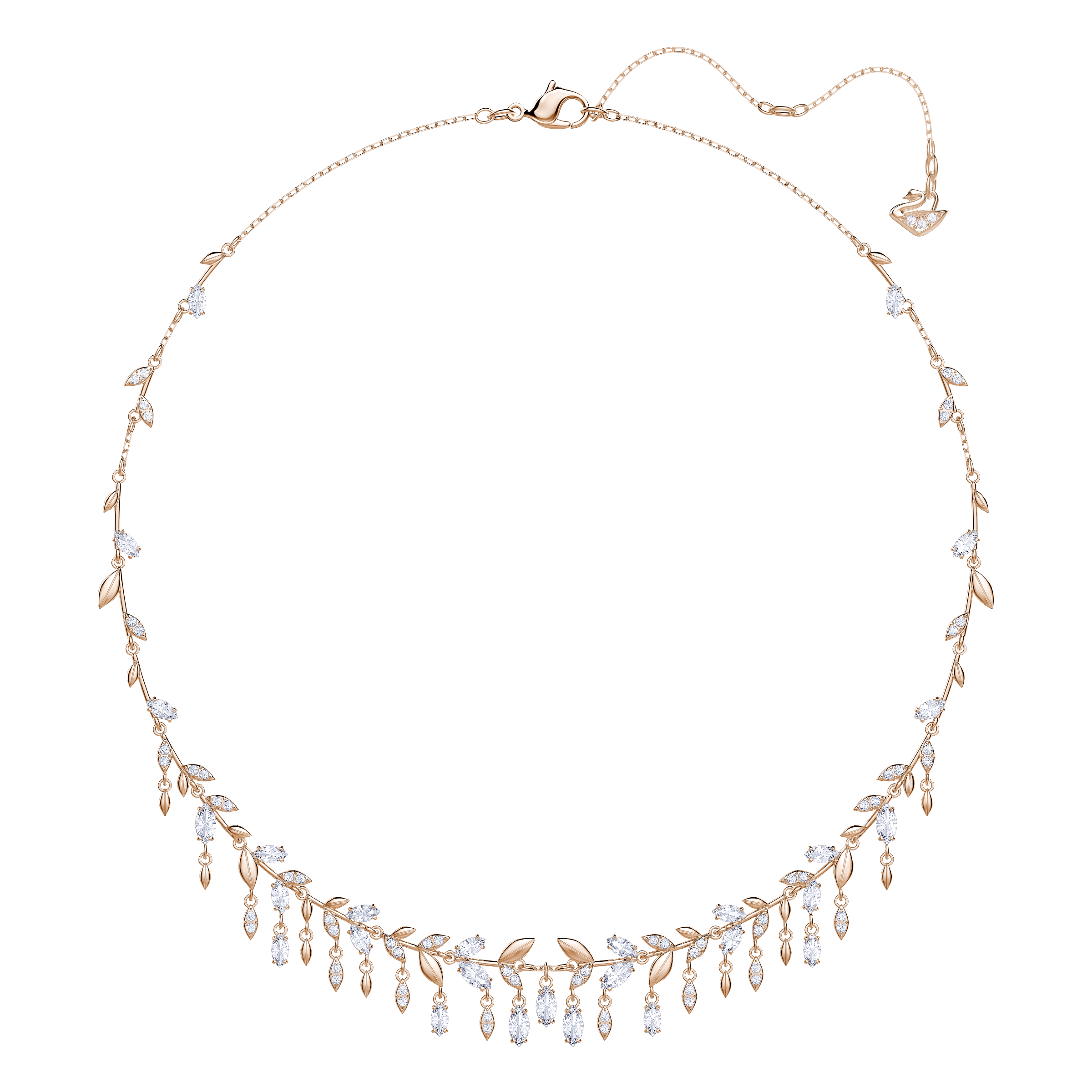 Mayfly Necklace, Large, White, Rose Gold Plating
