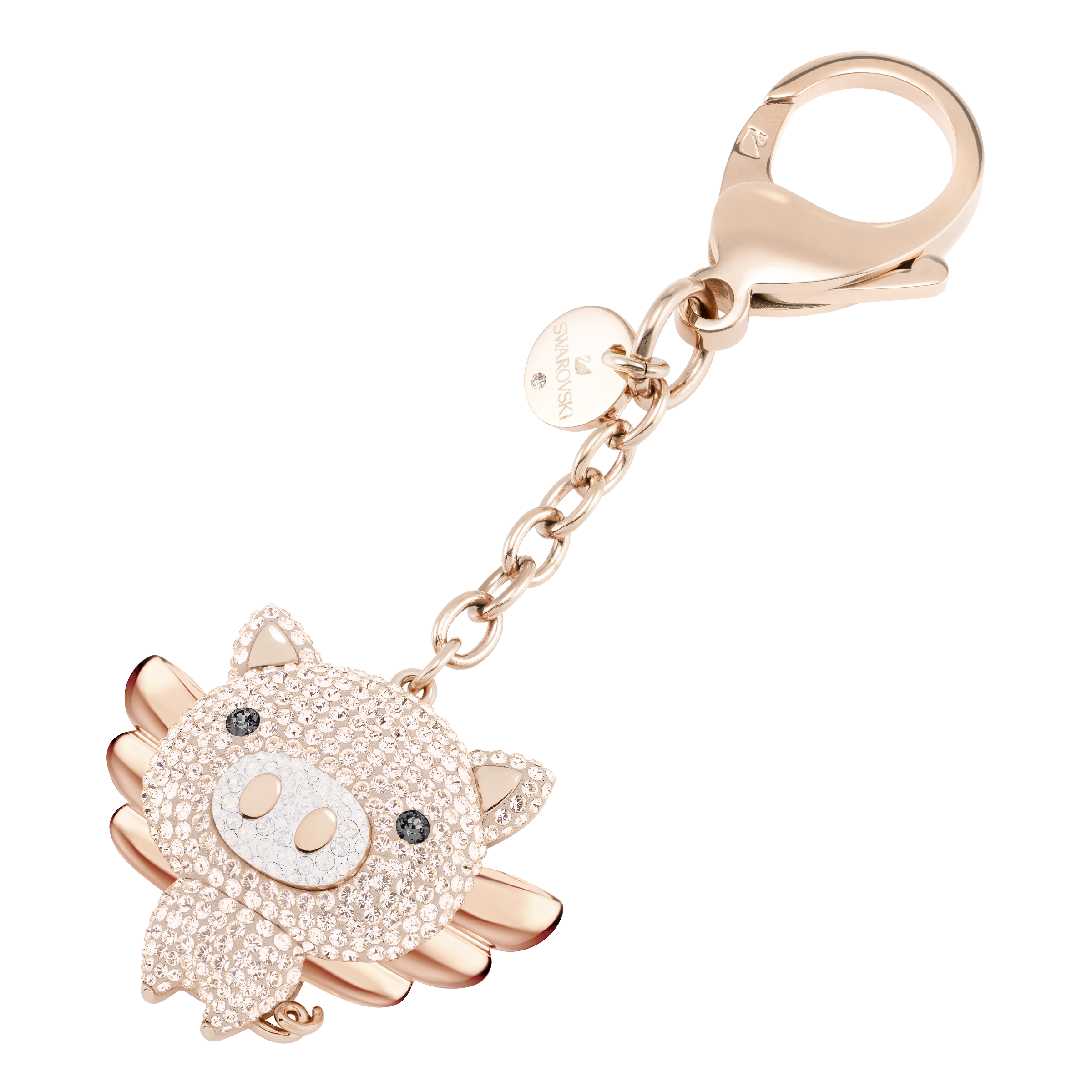 Little Pig Bag Charm, Pink, Mixed plating