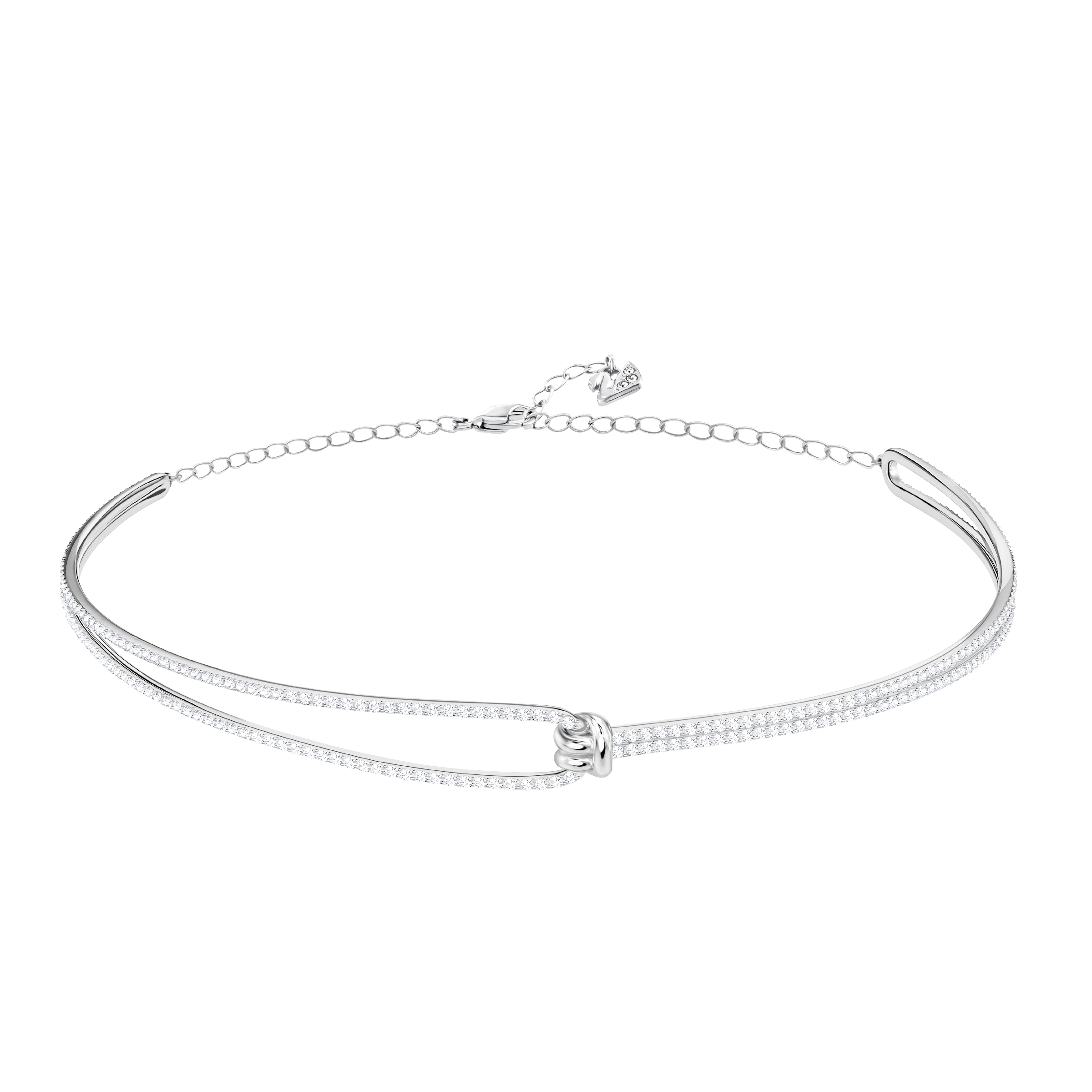 Lifelong Choker, White, Rhodium Plating