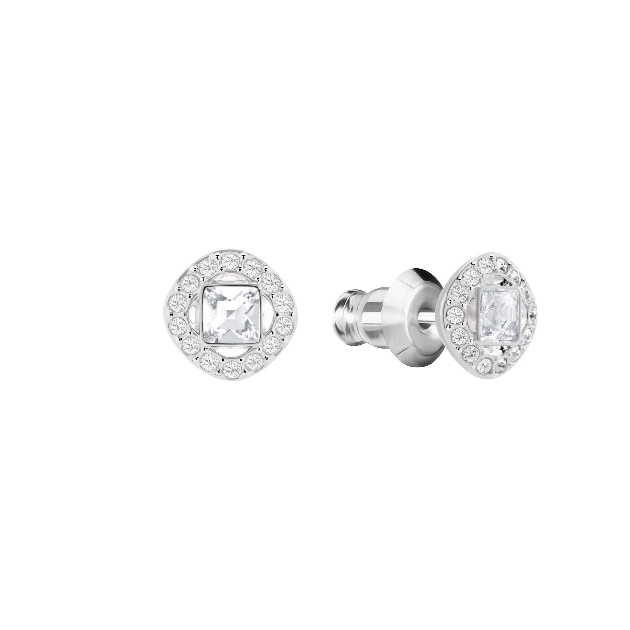 Angelic Square Set, White, Rhodium plated