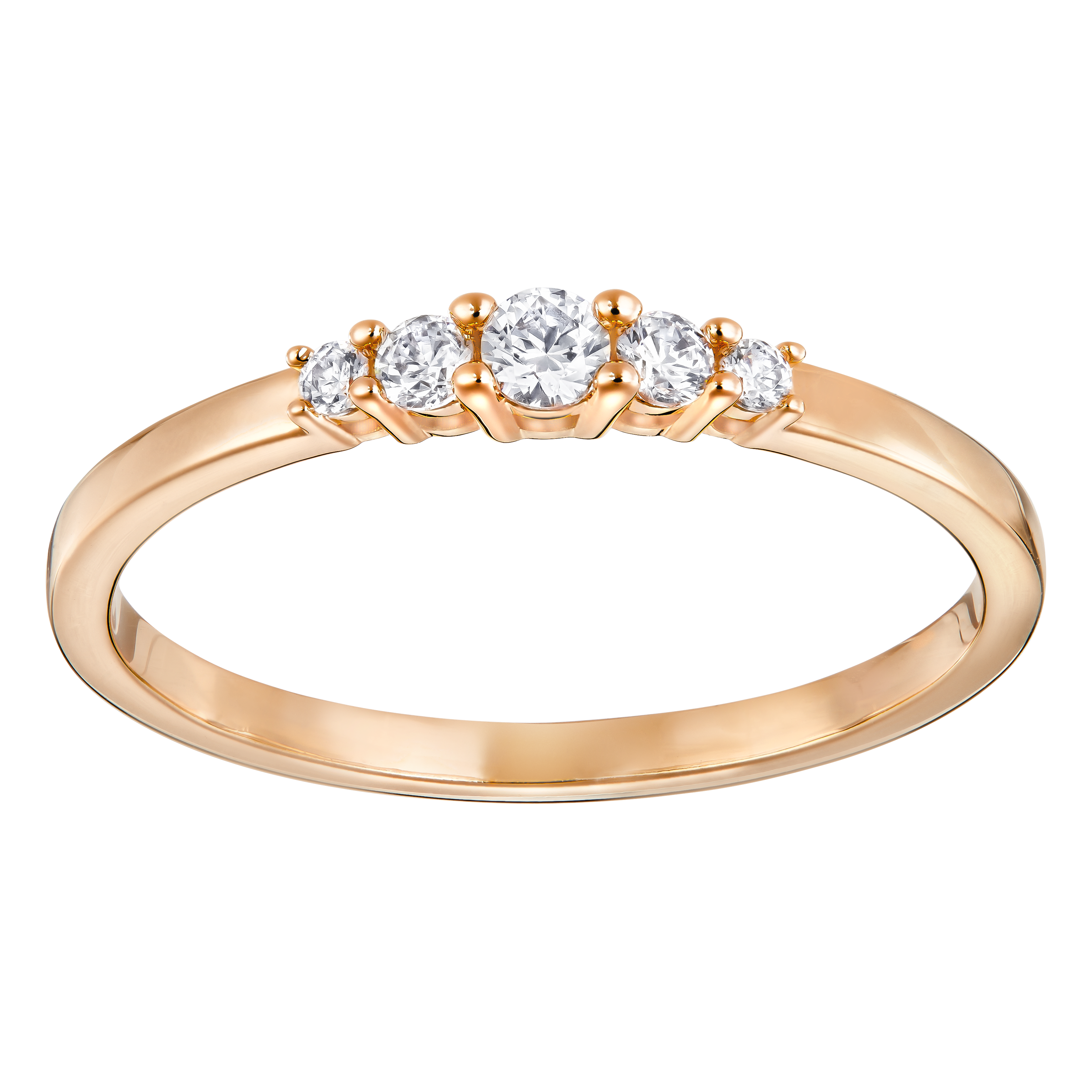 Frisson Ring, White, Rose gold tone plated