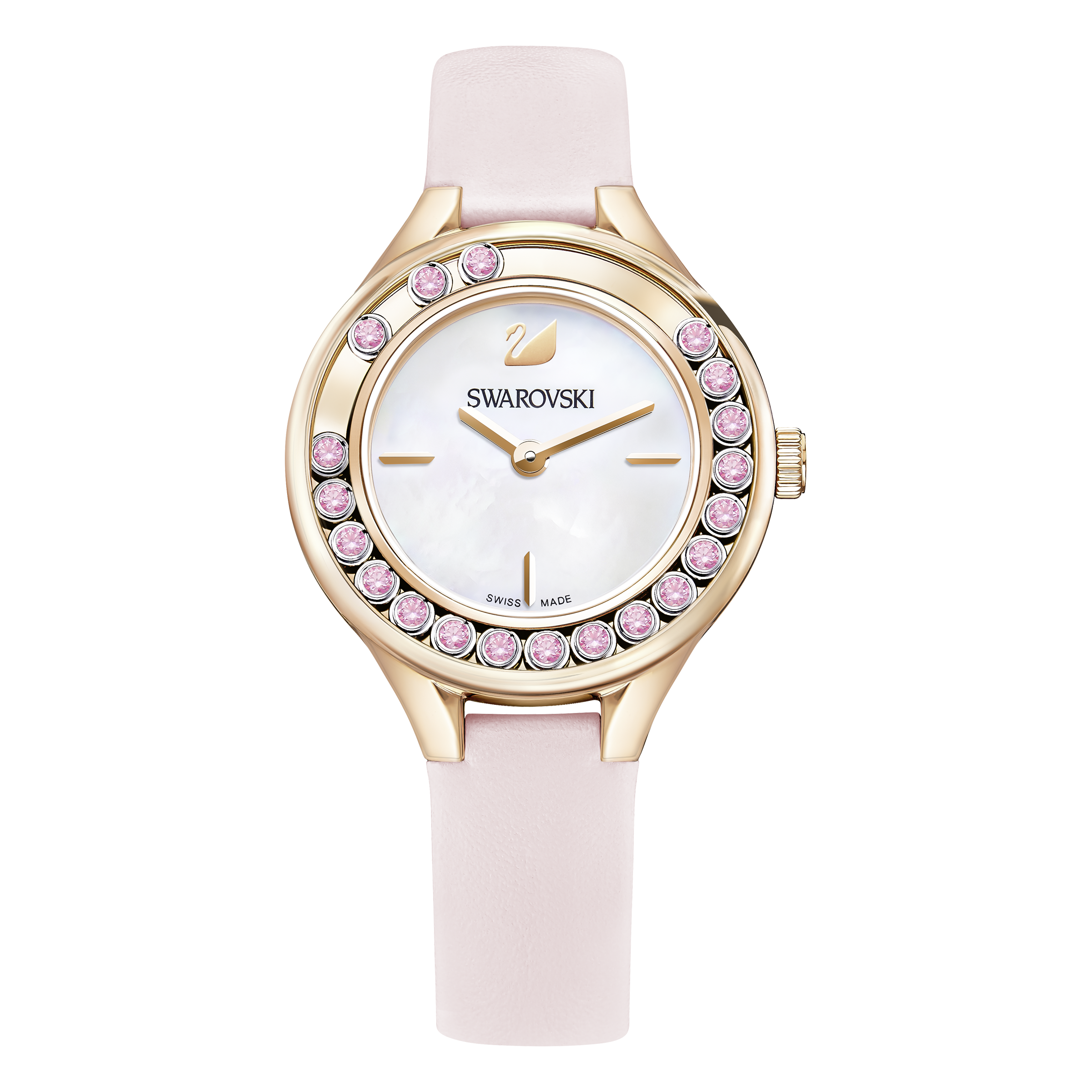 Lovely Crystals Mini Watch, Pink, Rose Gold Tone
