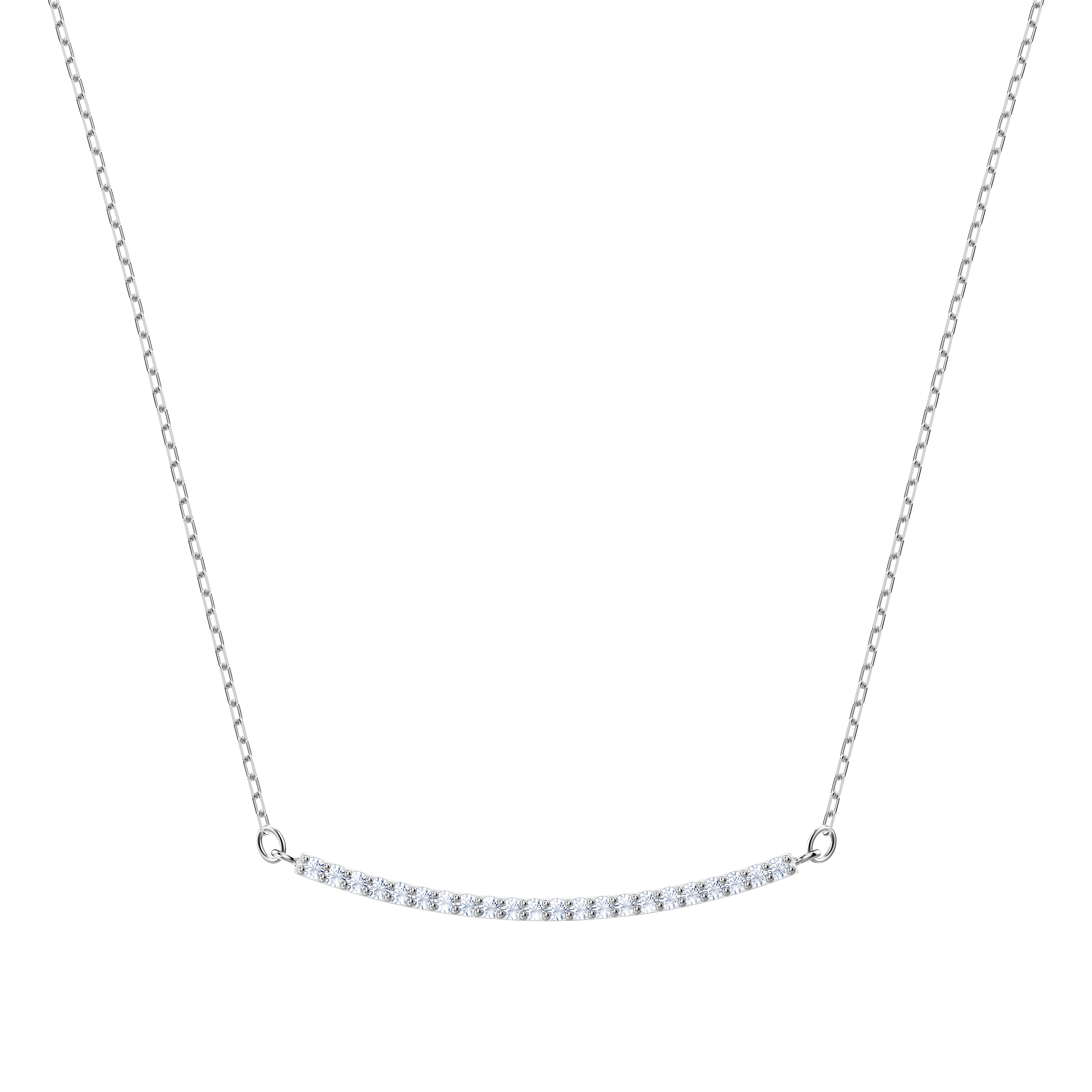 Only Necklace, White, Rhodium plating