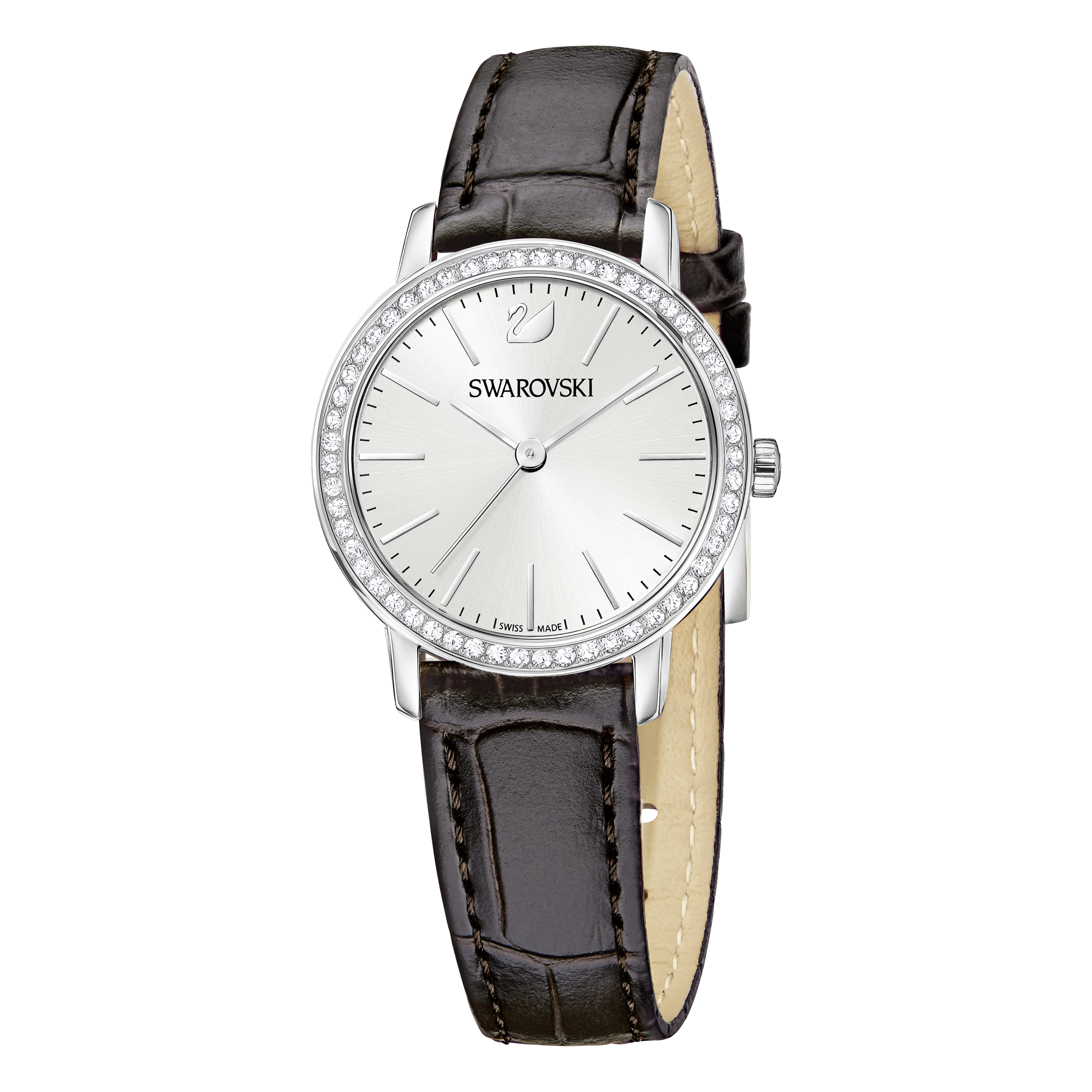 Graceful Mini Watch, Brown, Stainless Steel