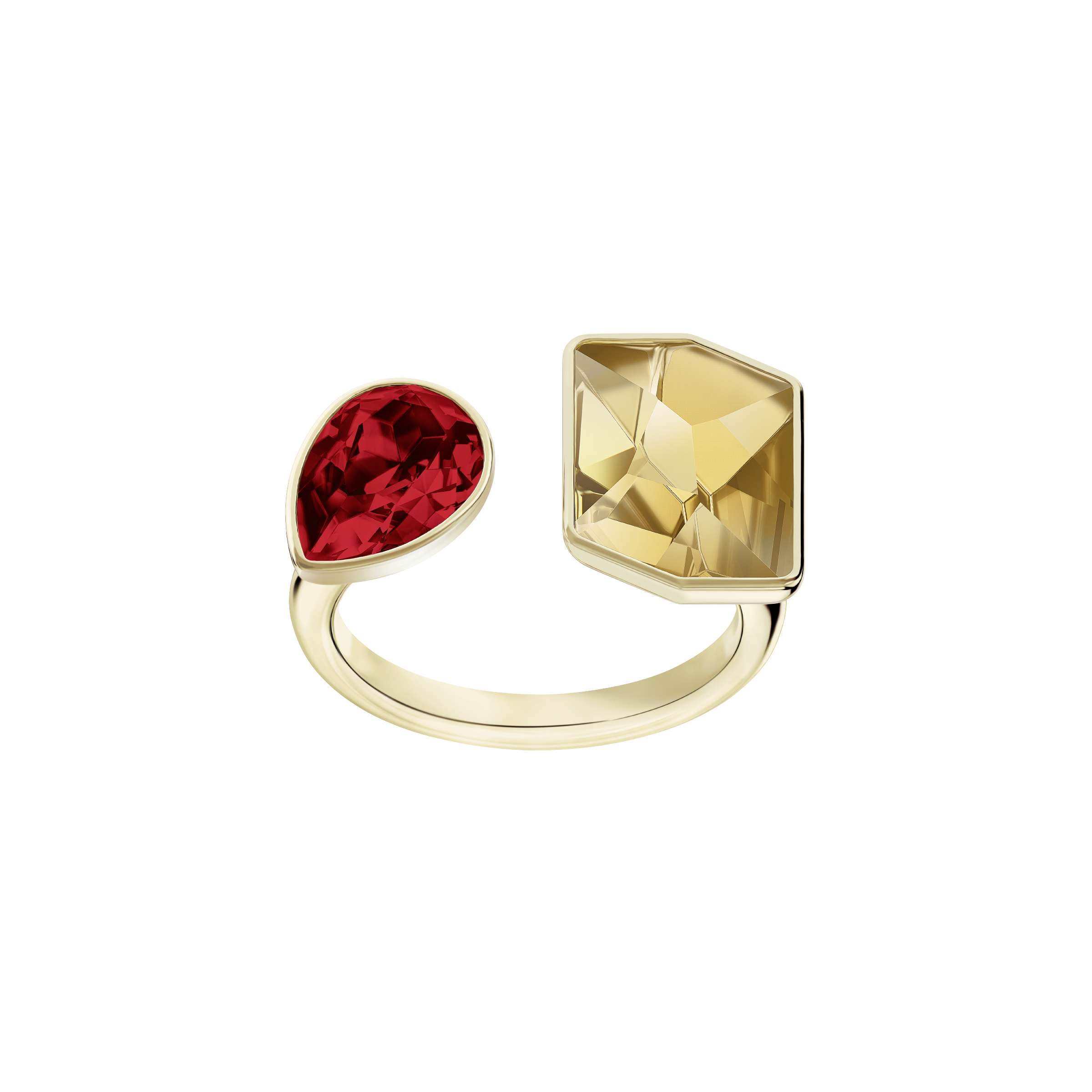 Prisma Ring, Multi-colored, Gold-tone plated