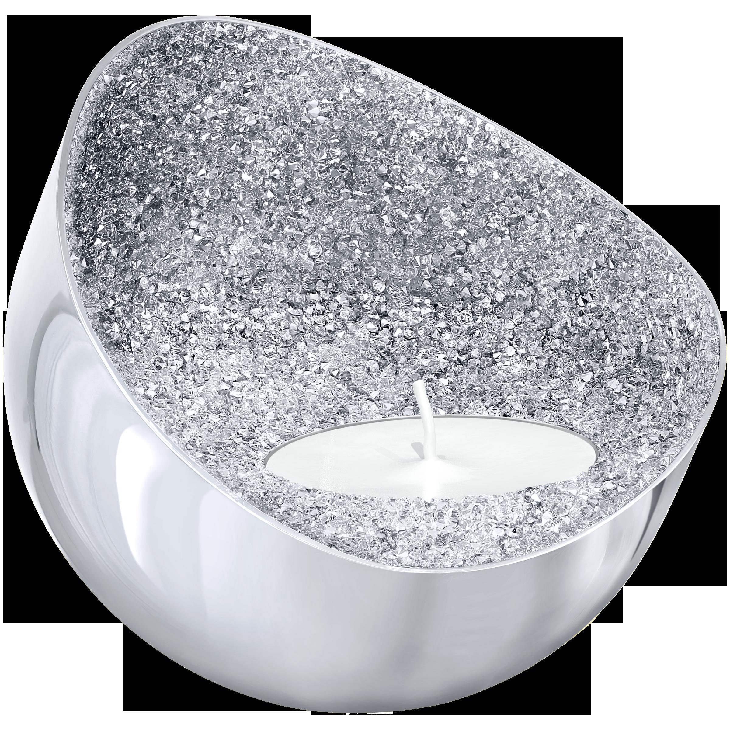 Minera Tea Light Holder, Silver Tone
