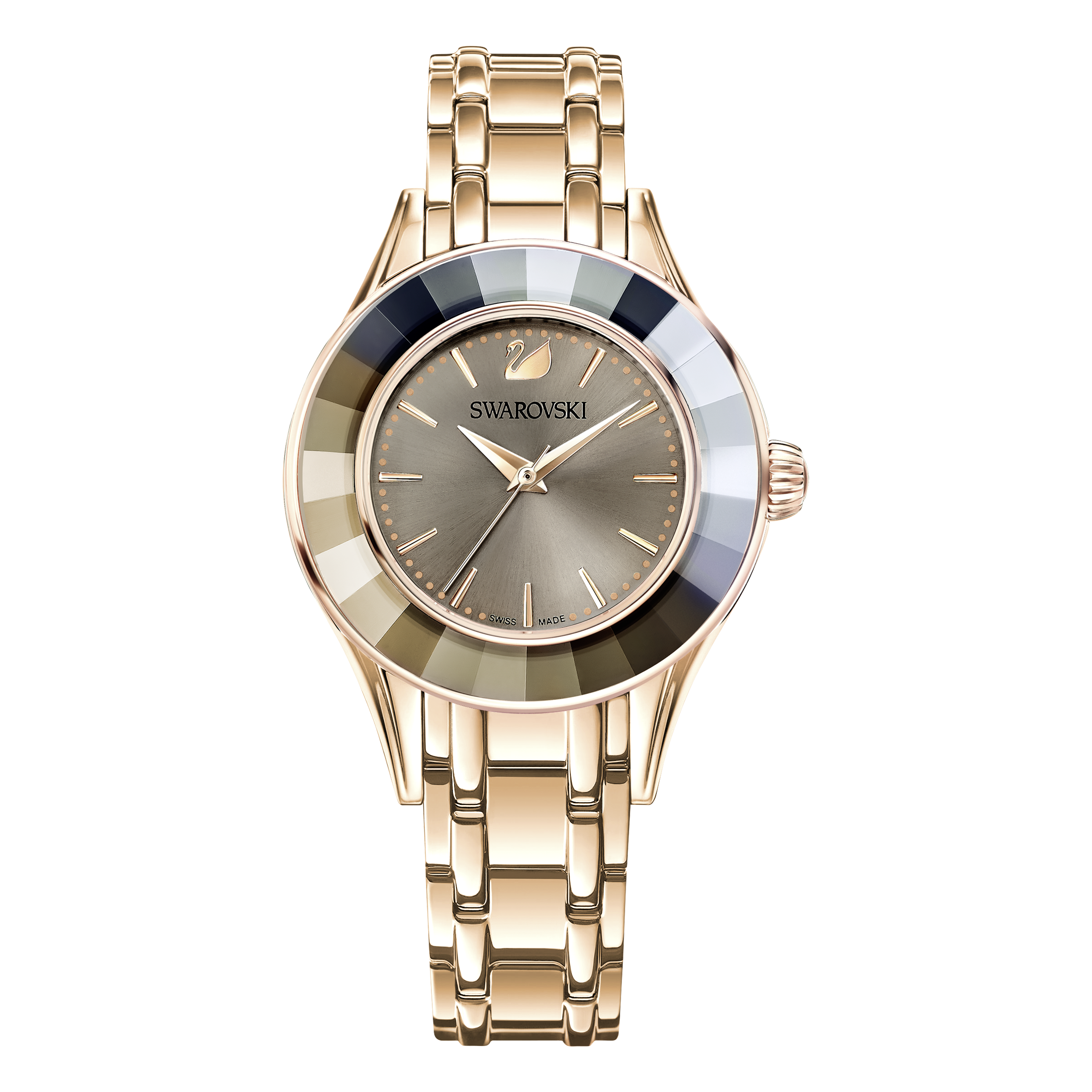 Alegria Watch, Gray, Rose Gold Tone