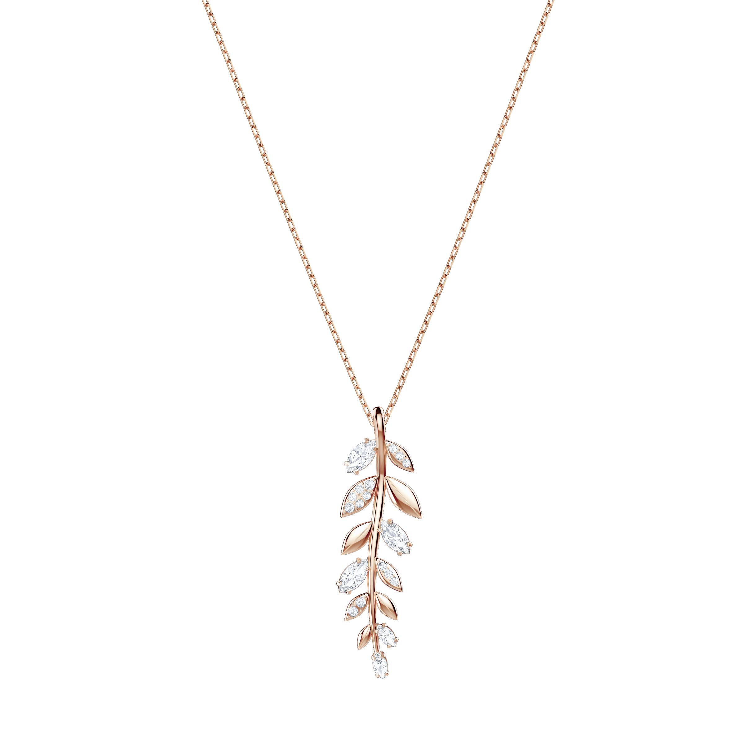 Mayfly Pendant, White, Rose Gold Plating