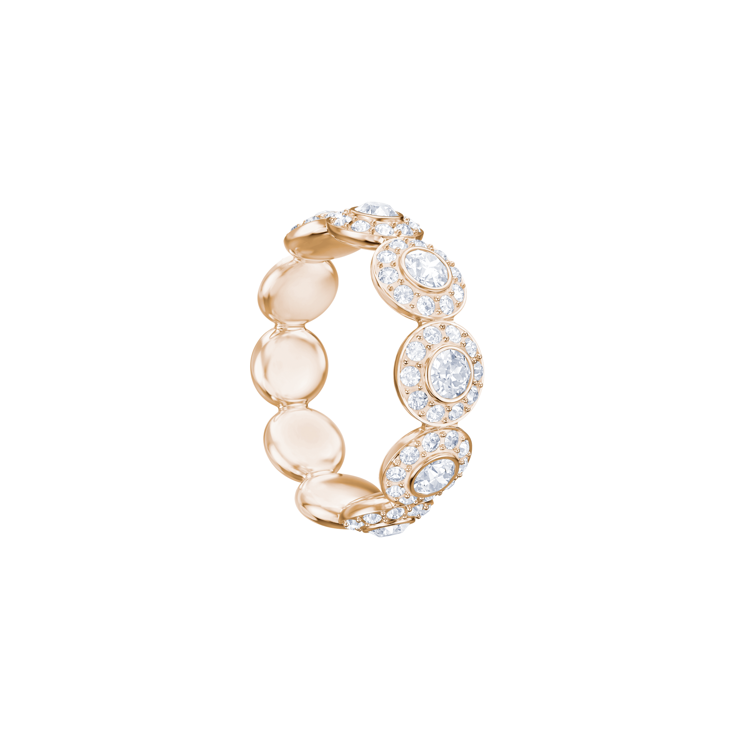 Angelic Ring, White, Rose Gold Plating