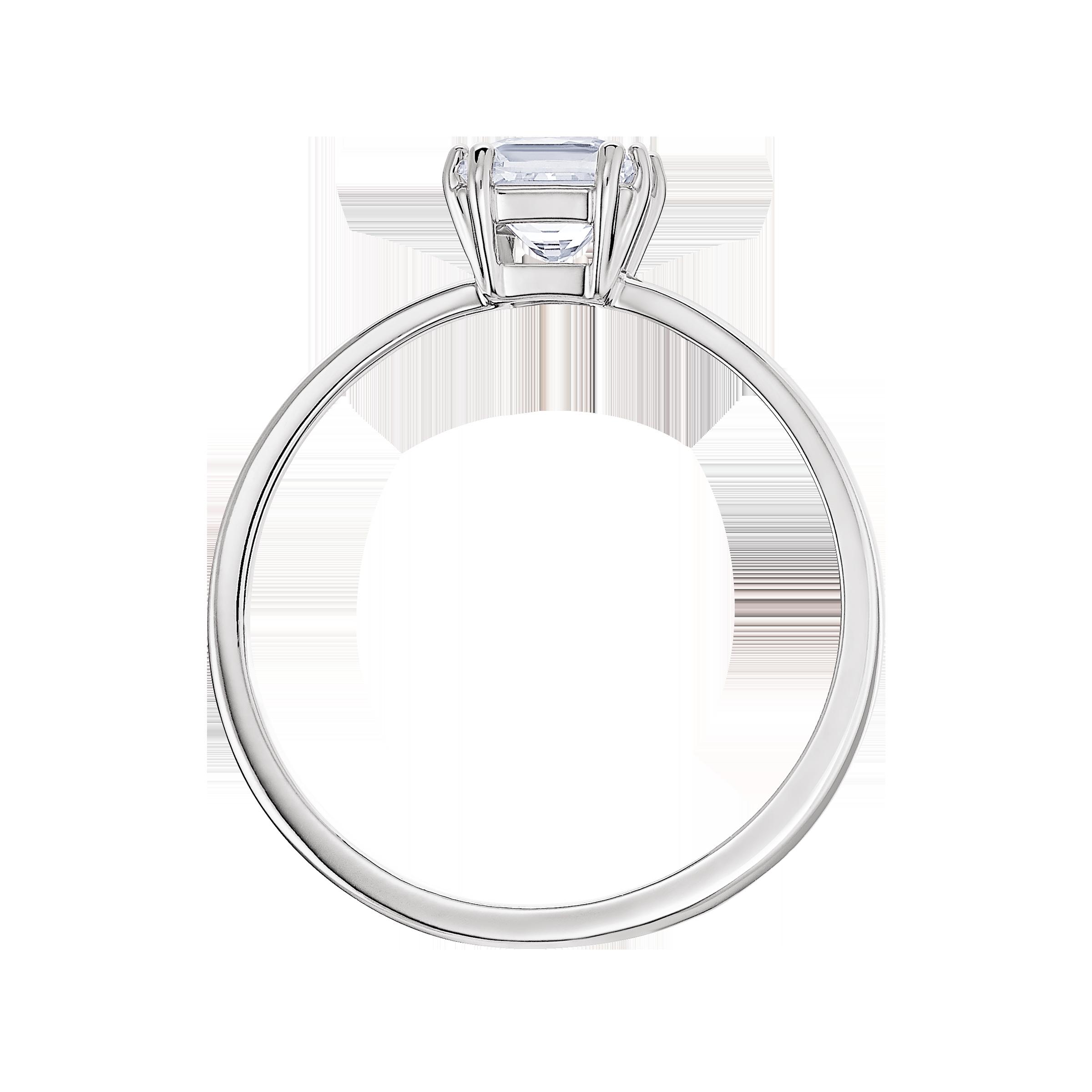 Attract Motif Ring, Rhodium plated