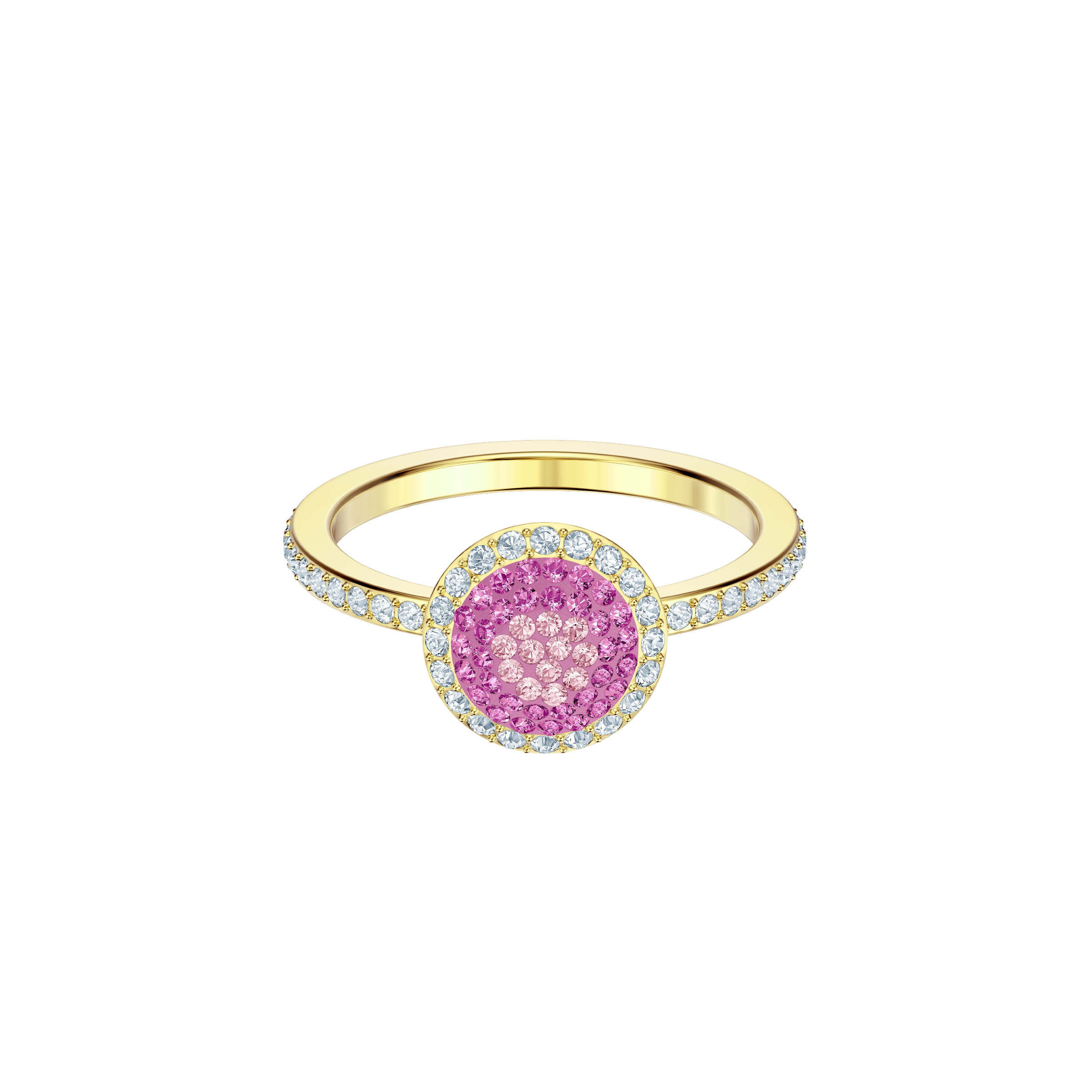 No Regrets Ring, Round, Multi-colored, Gold plating