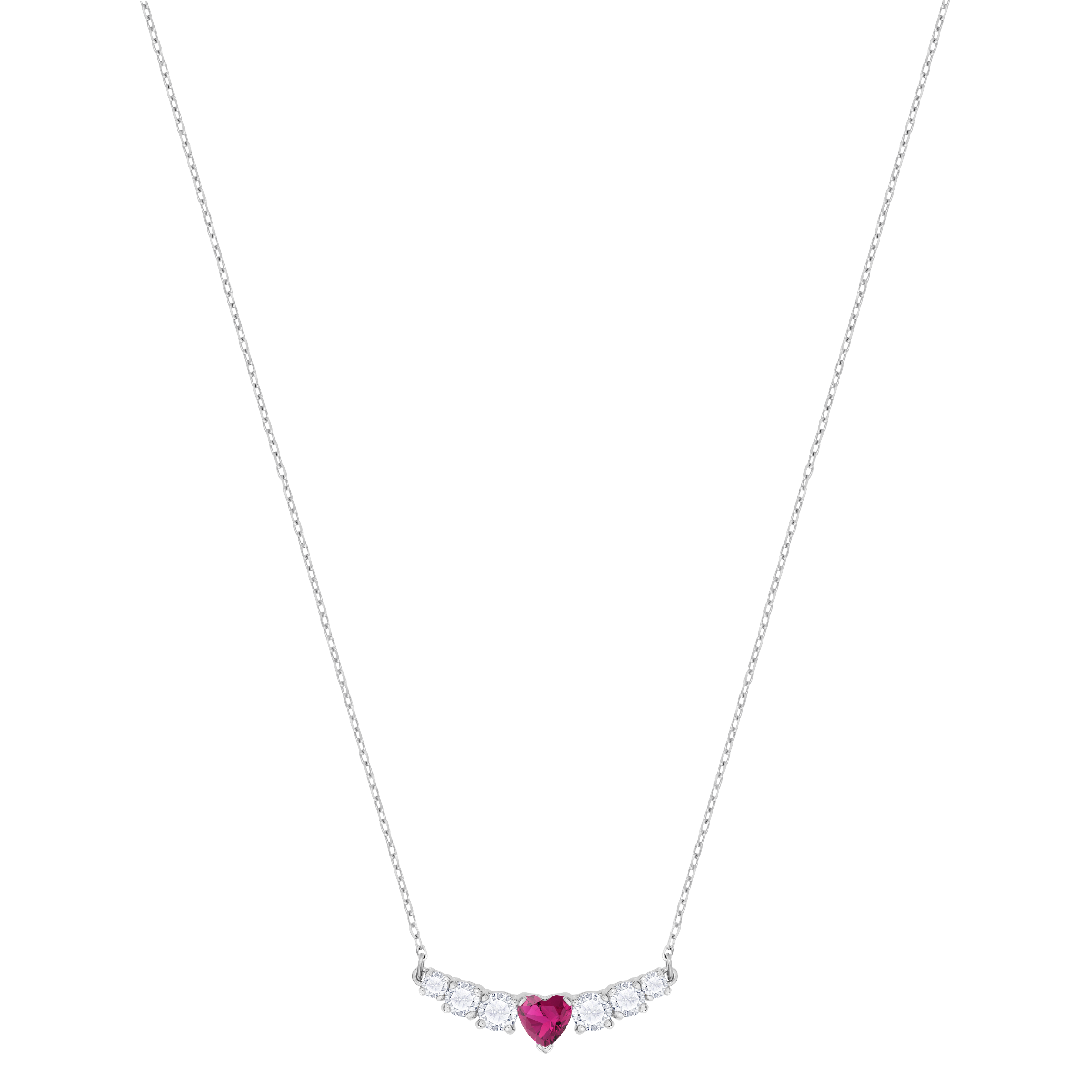 Love Necklace, White, Rhodium plated