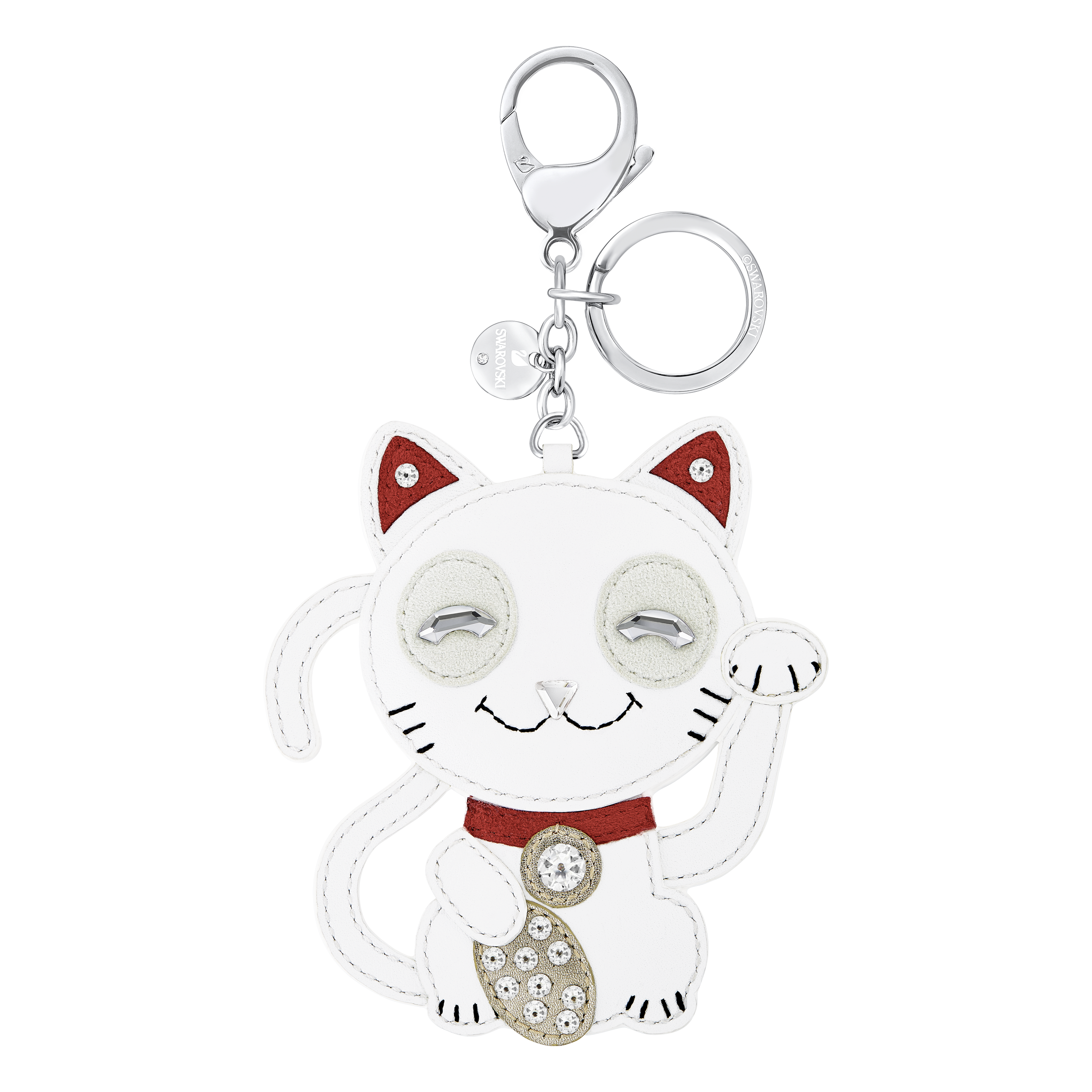 Cat Bag Charm, Multi colored, Stainless steel