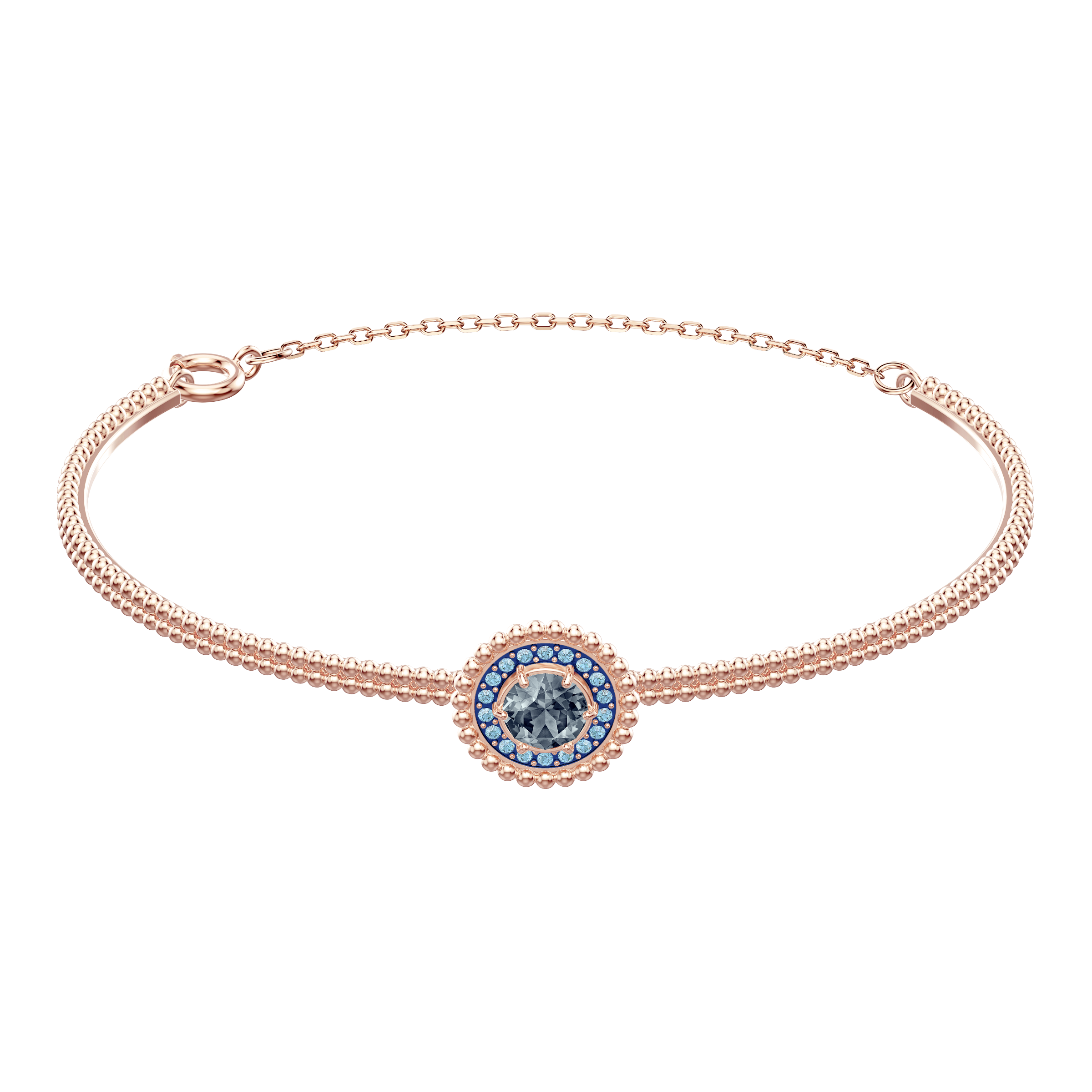 Oxygen Bangle, Gray, Rose gold plating